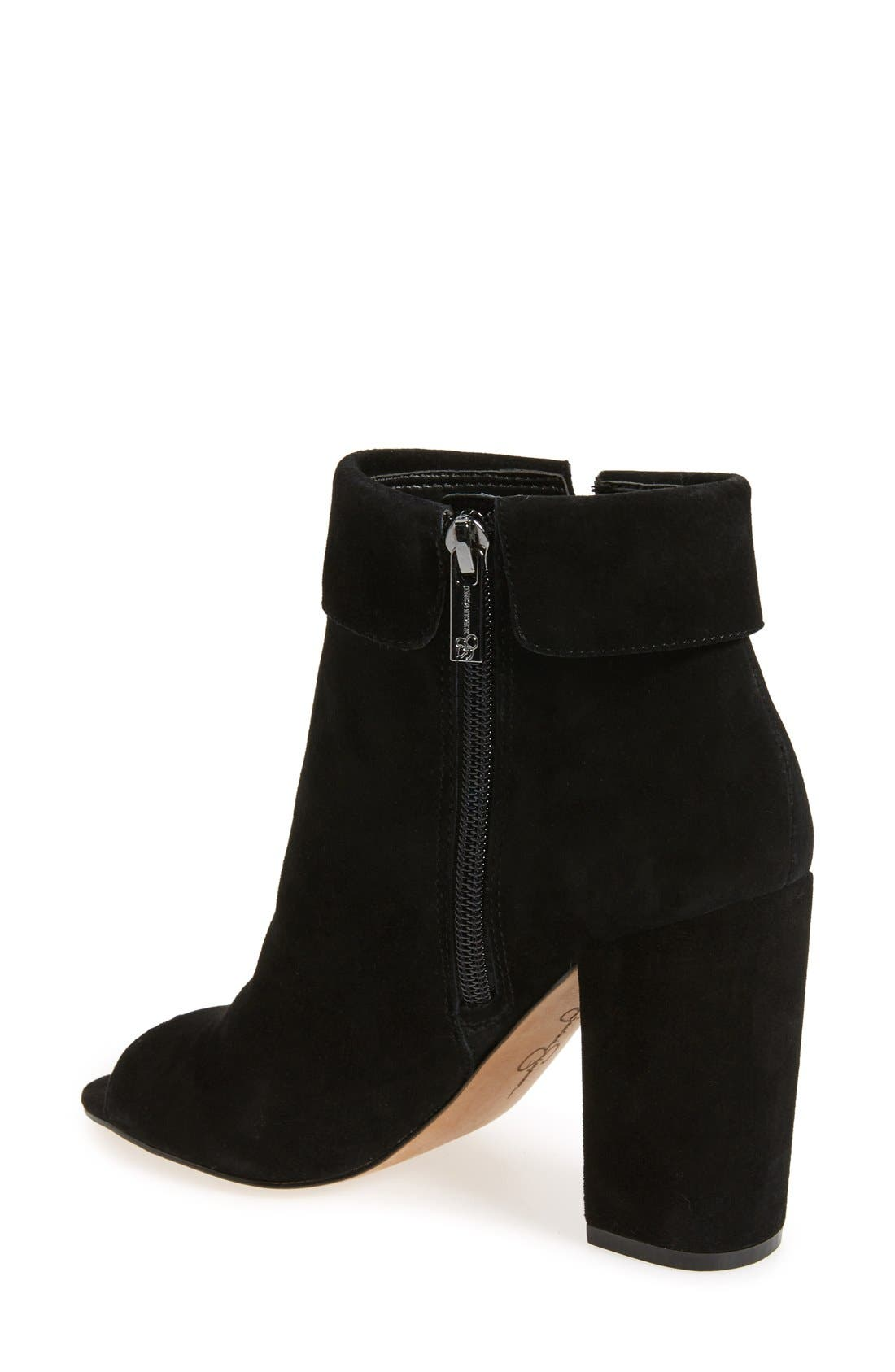 Alternate Image 2  - Jessica Simpson 'Kailey' Feather Charm Peep Toe Bootie (Women)
