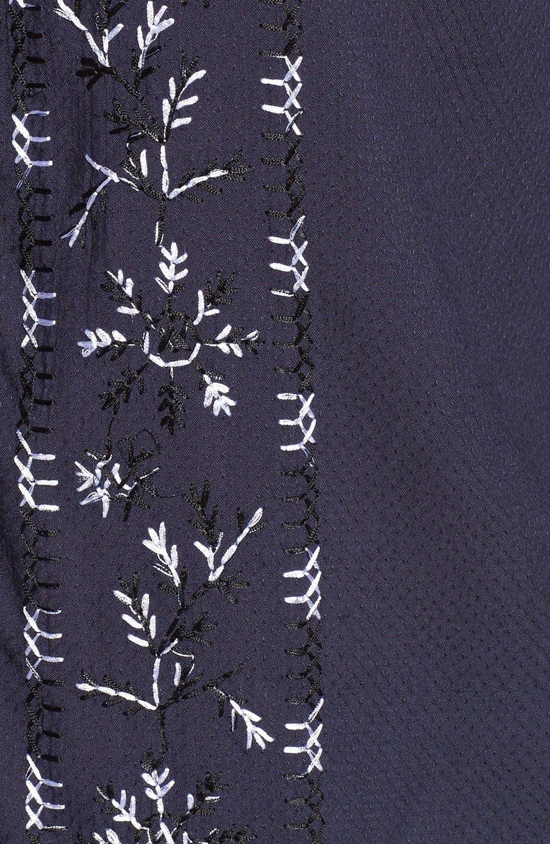 Alternate Image 5  - Lucky Brand Embroidered Peasant Blouse