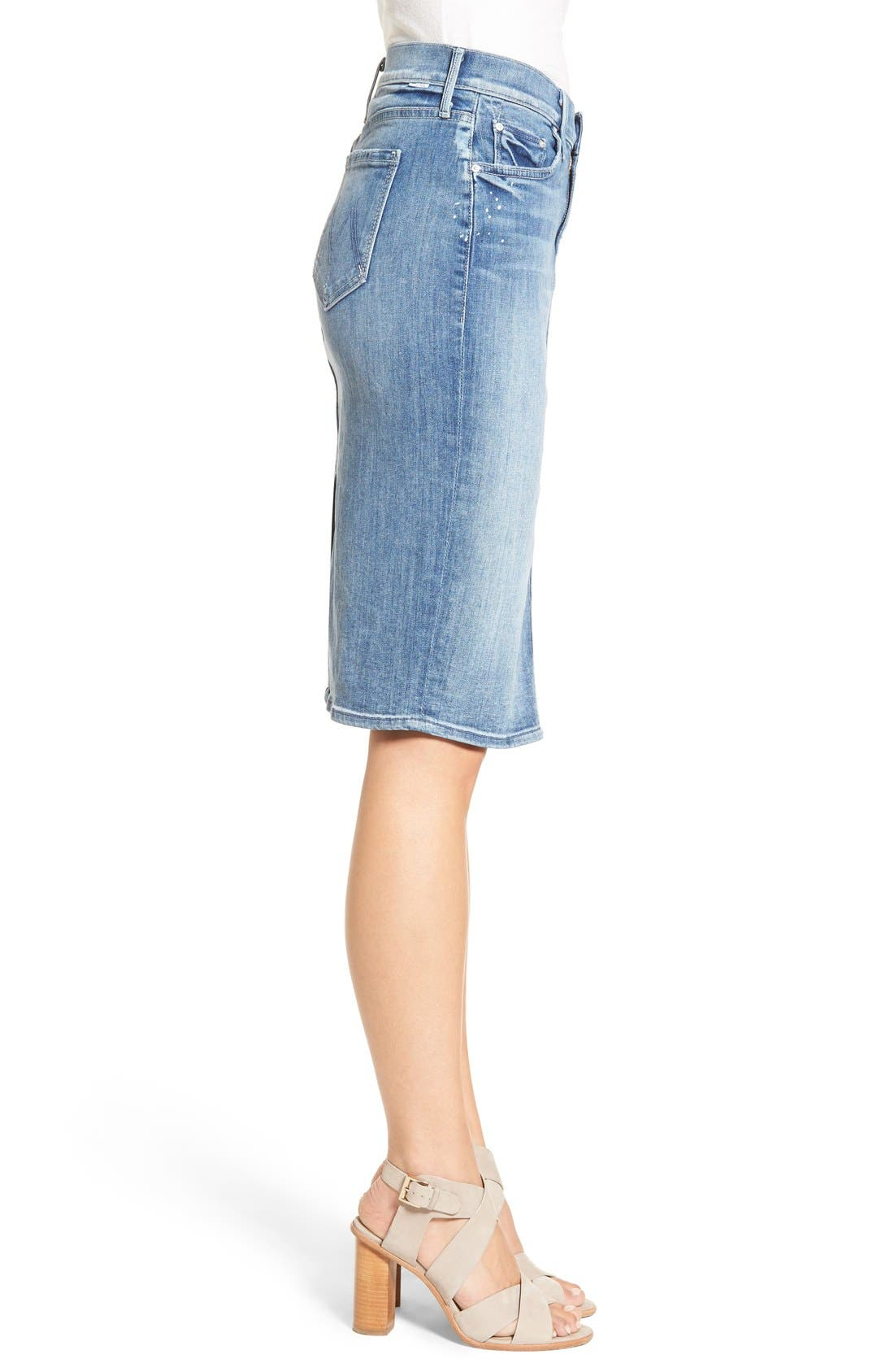 Alternate Image 3  - MOTHER 'The Peg Leg' Denim Pencil Skirt (Double Time)