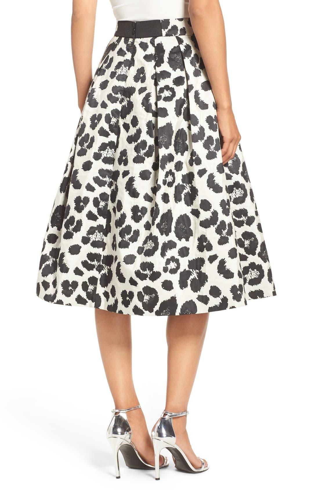Alternate Image 2  - Eliza J Metallic Jacquard Midi Skirt