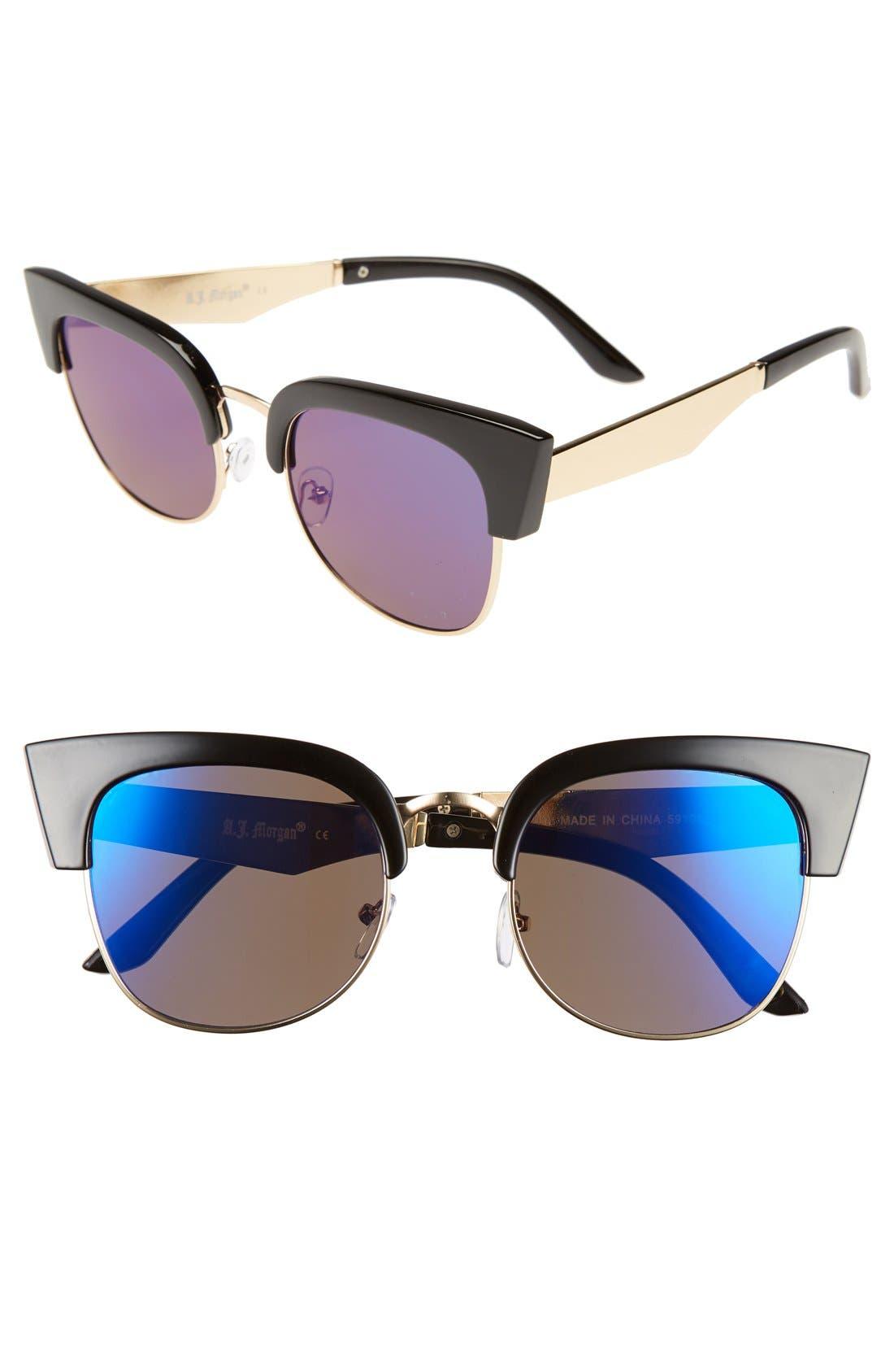 Alternate Image 1 Selected - A.J. Morgan 'Wings' 52mm Sunglasses