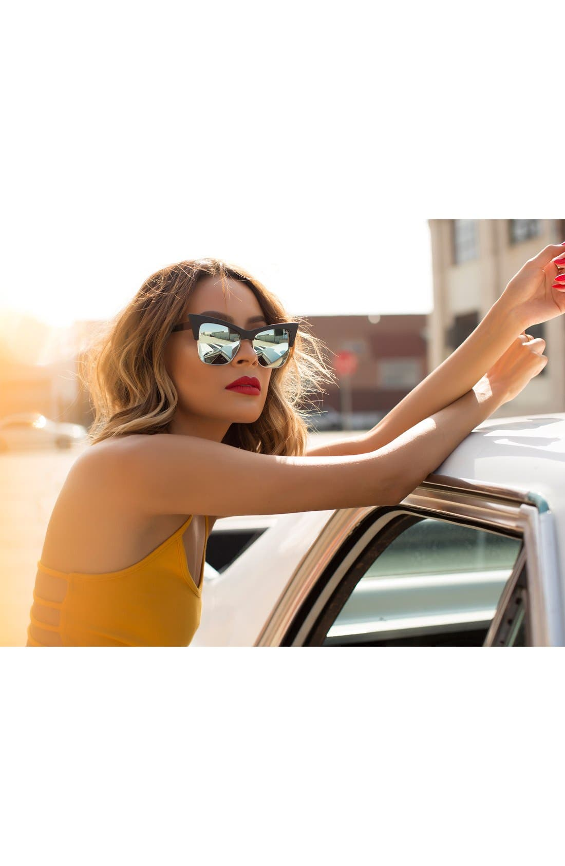 Alternate Image 2  - Quay Australia x Desi Perkins 'TYSM' 55mm Cat Eye Sunglasses