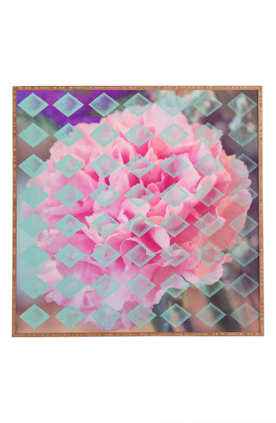 DENY DESIGNS 'Floral Diamonds' Framed Wall Art