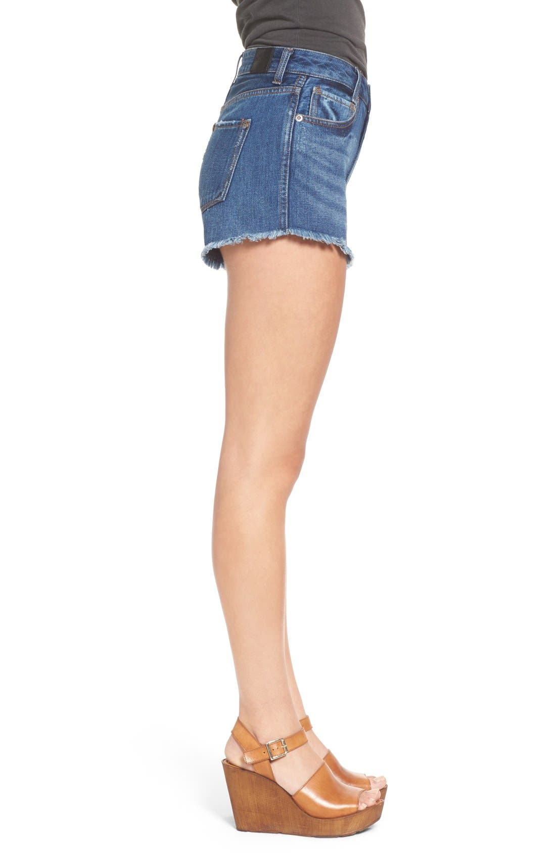 Alternate Image 3  - RVCA 'Highly Vibed' Cutoff Denim Shorts