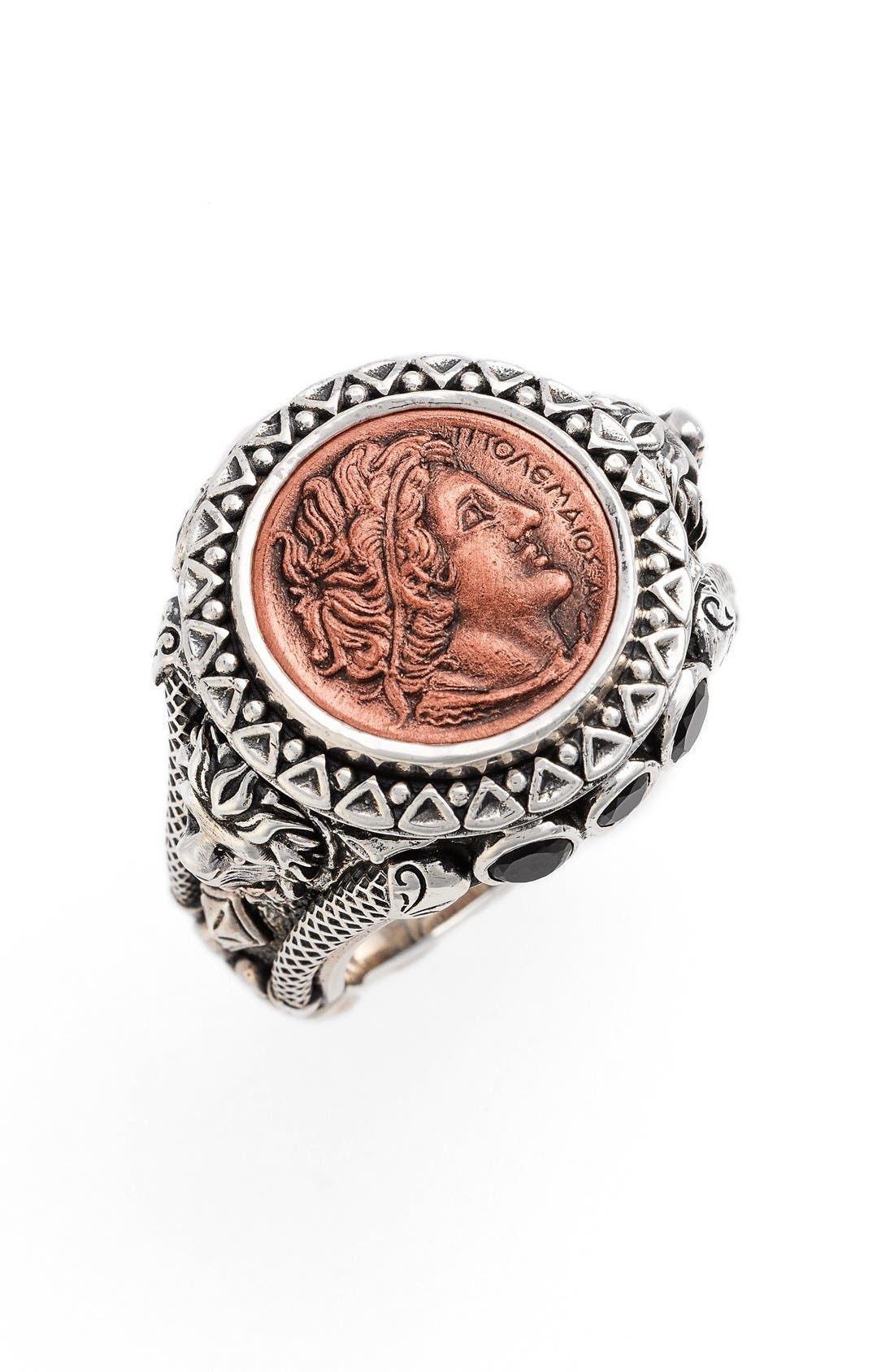 KONSTANTINO 'Aeolus - Ptolemy' Coin Ring