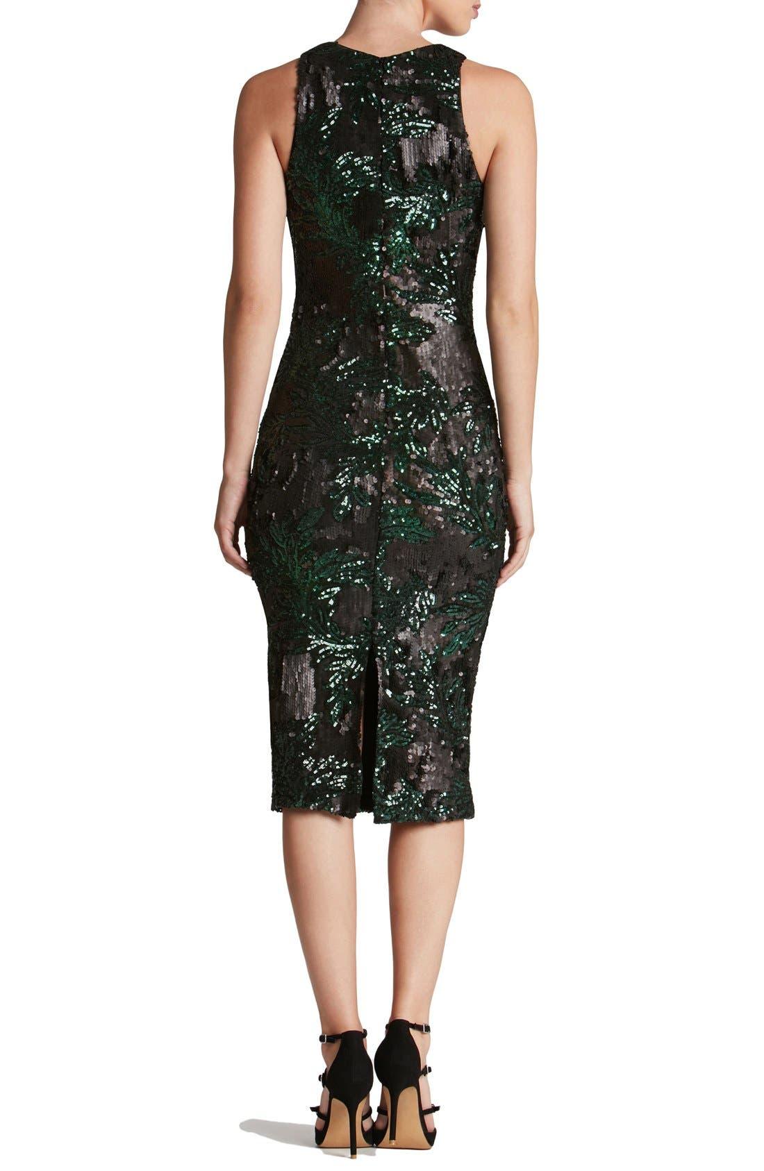Alternate Image 2  - Dress the Population 'Shawn' Sequin Midi Dress