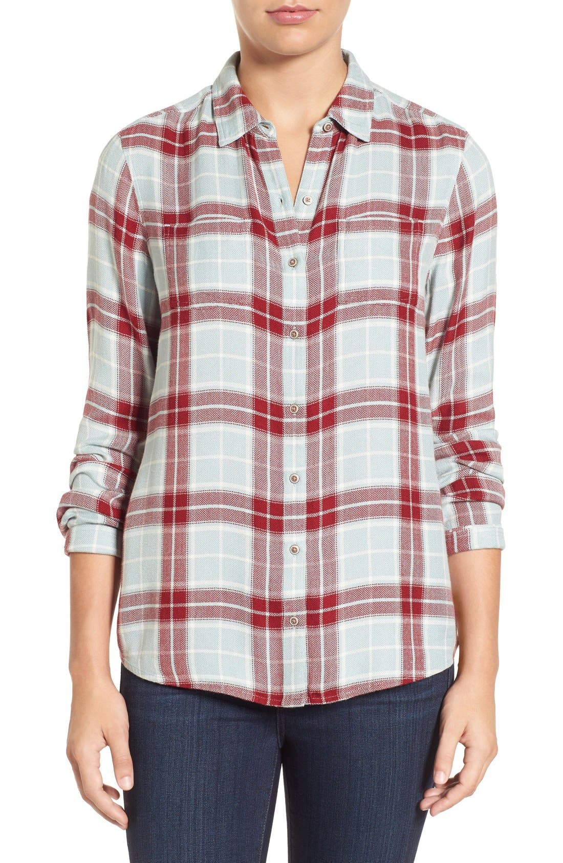 Main Image - Caslon® Classic Plaid Shirt (Regular & Petite)