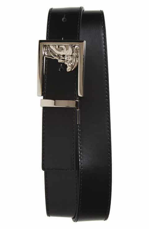 Versace Medusa Leather Belt