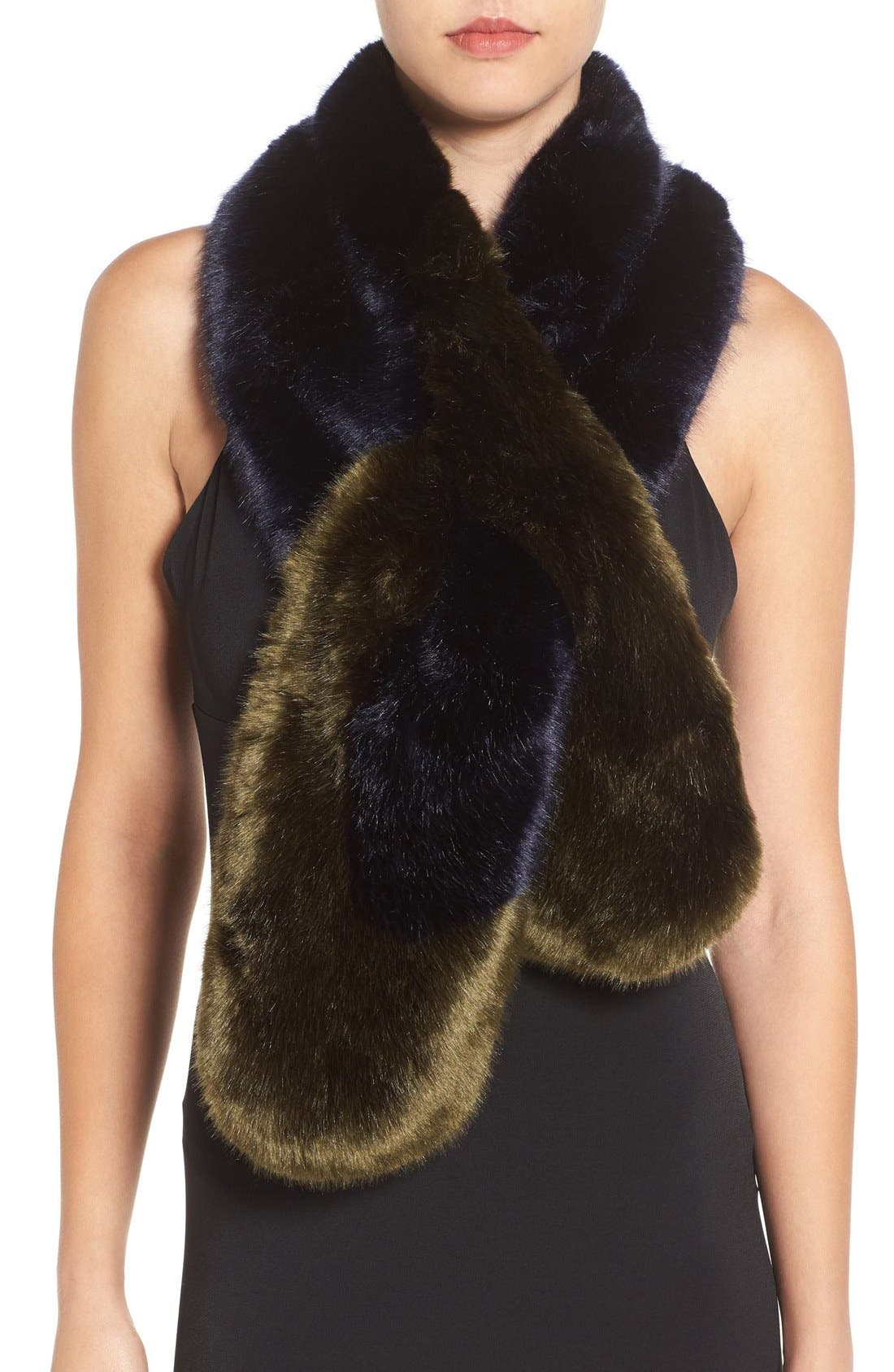 TED BAKER LONDON Faux Fur Stole