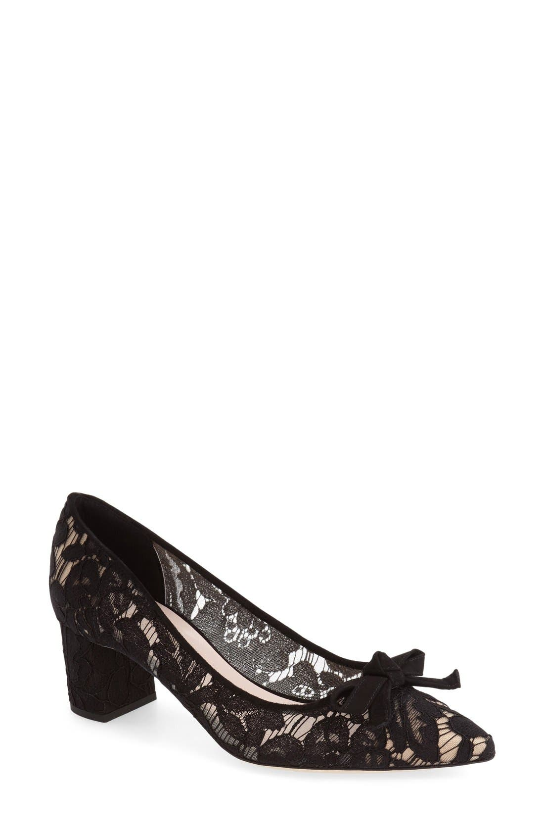 Alternate Image 1 Selected - kate spade new york 'madelaine' block heel pump (Women)