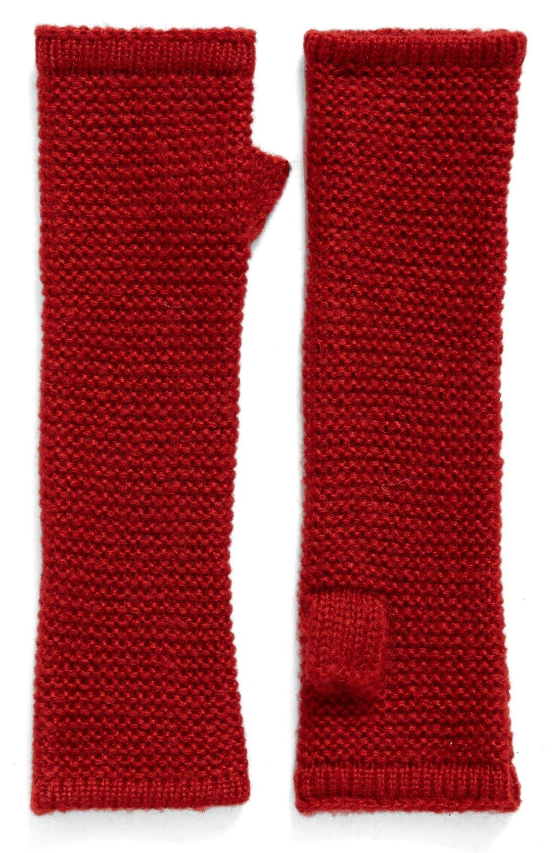 Main Image - Rebecca Minkoff Garter Stitch Fingerless Gloves