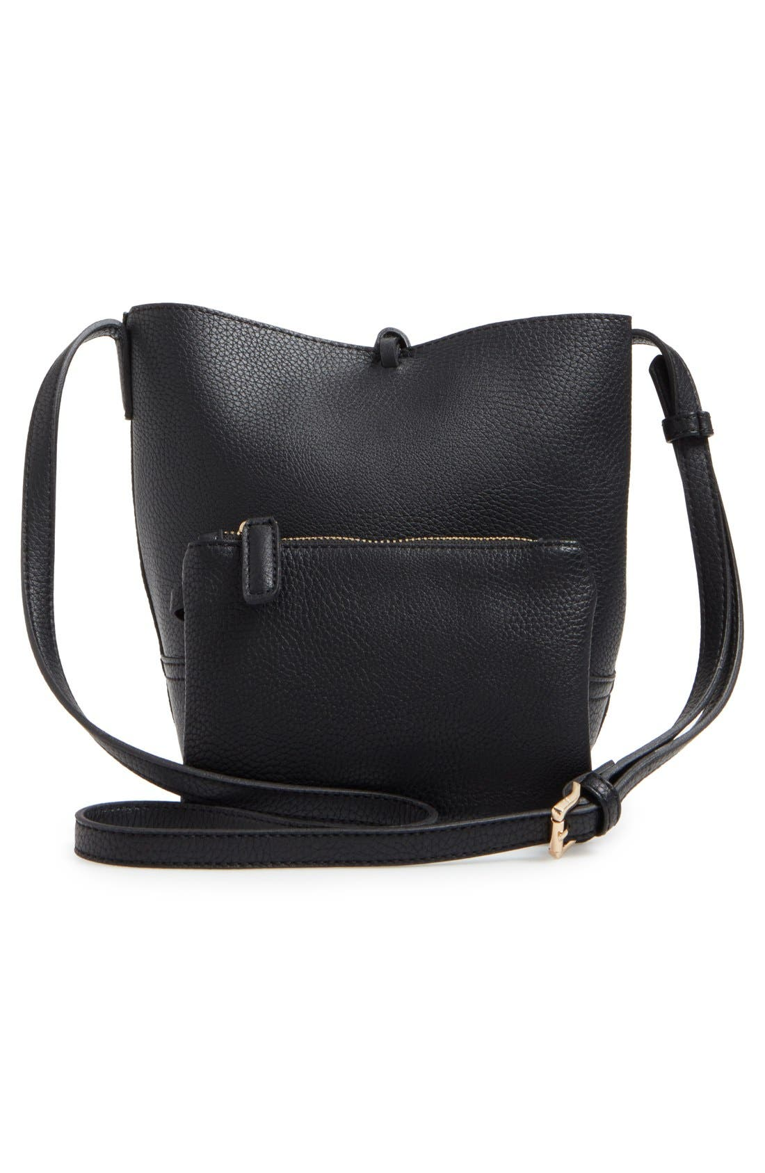Alternate Image 3  - Street Level Faux Leather Bucket Bag