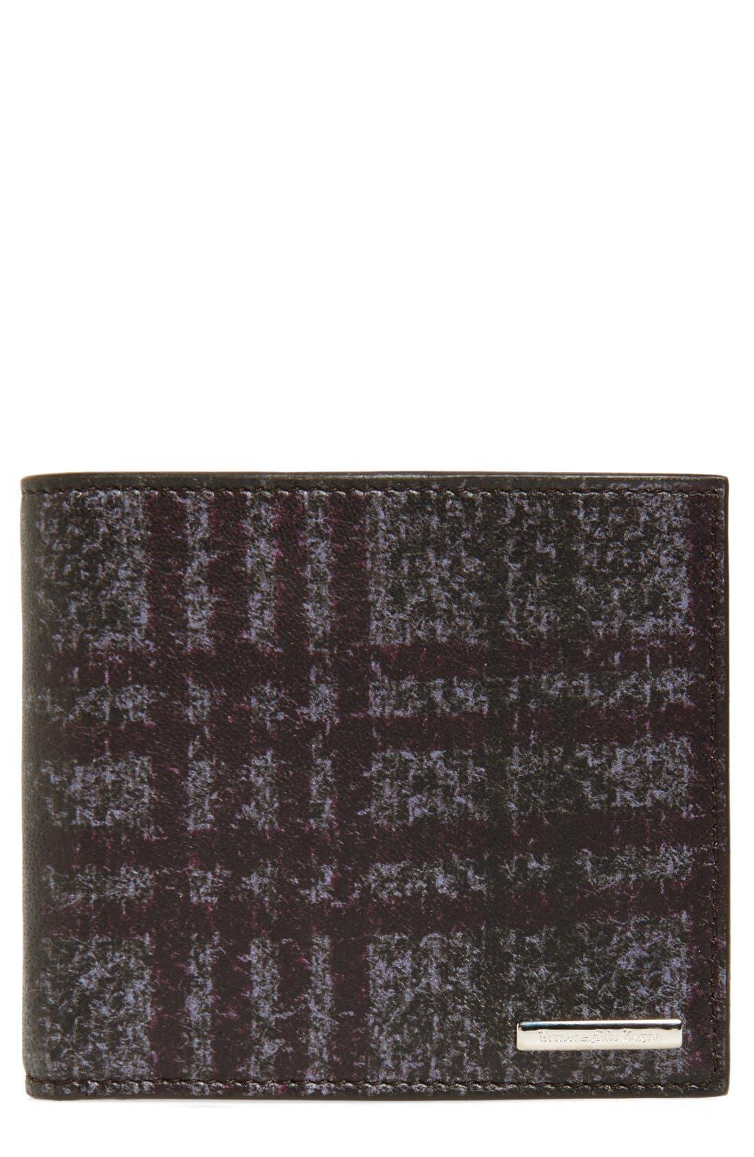 ERMENEGILDO ZEGNA Printed Leather Bifold Wallet