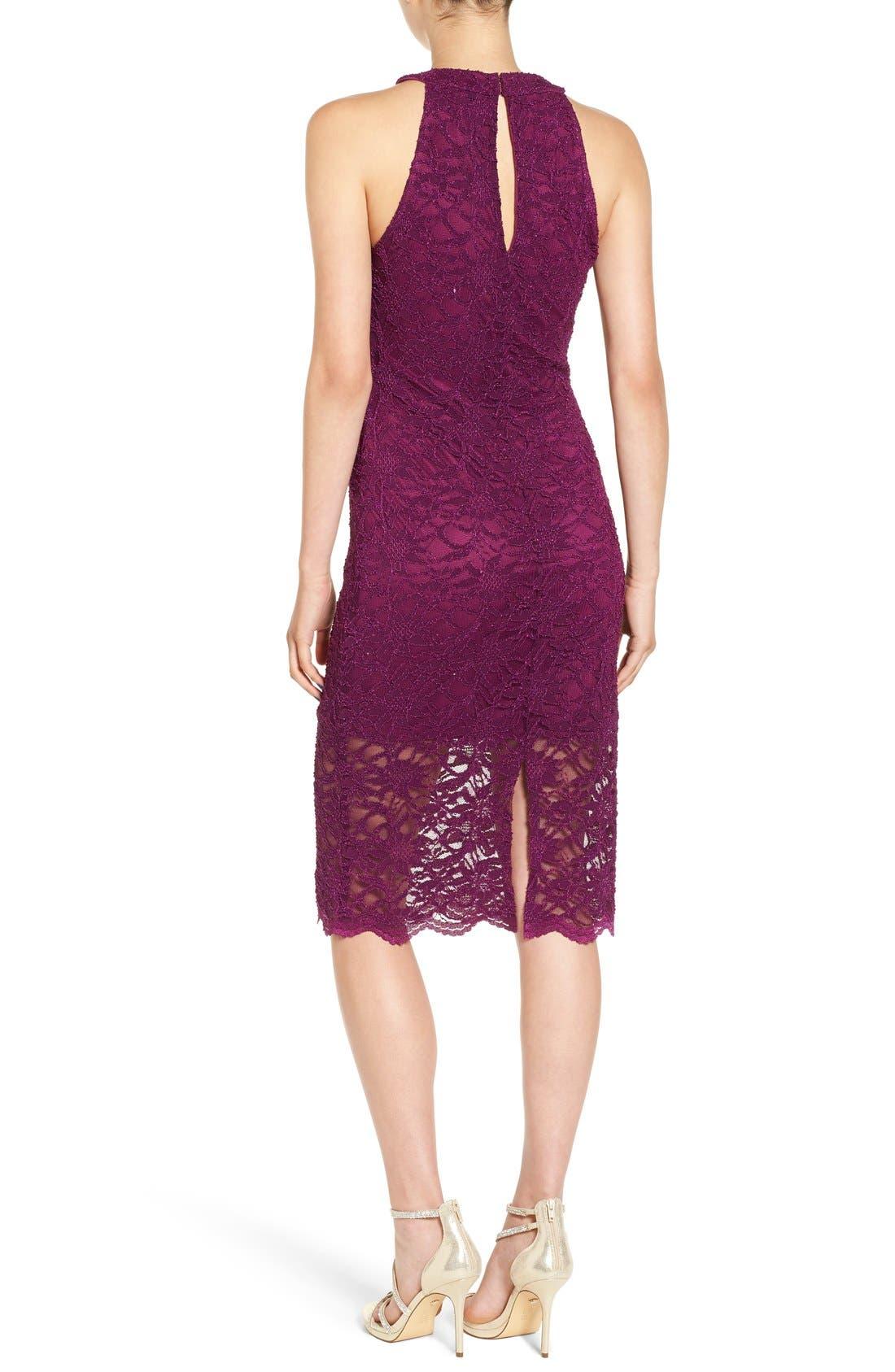 Alternate Image 2  - Jump Apparel Lace Midi Body-Con Dress