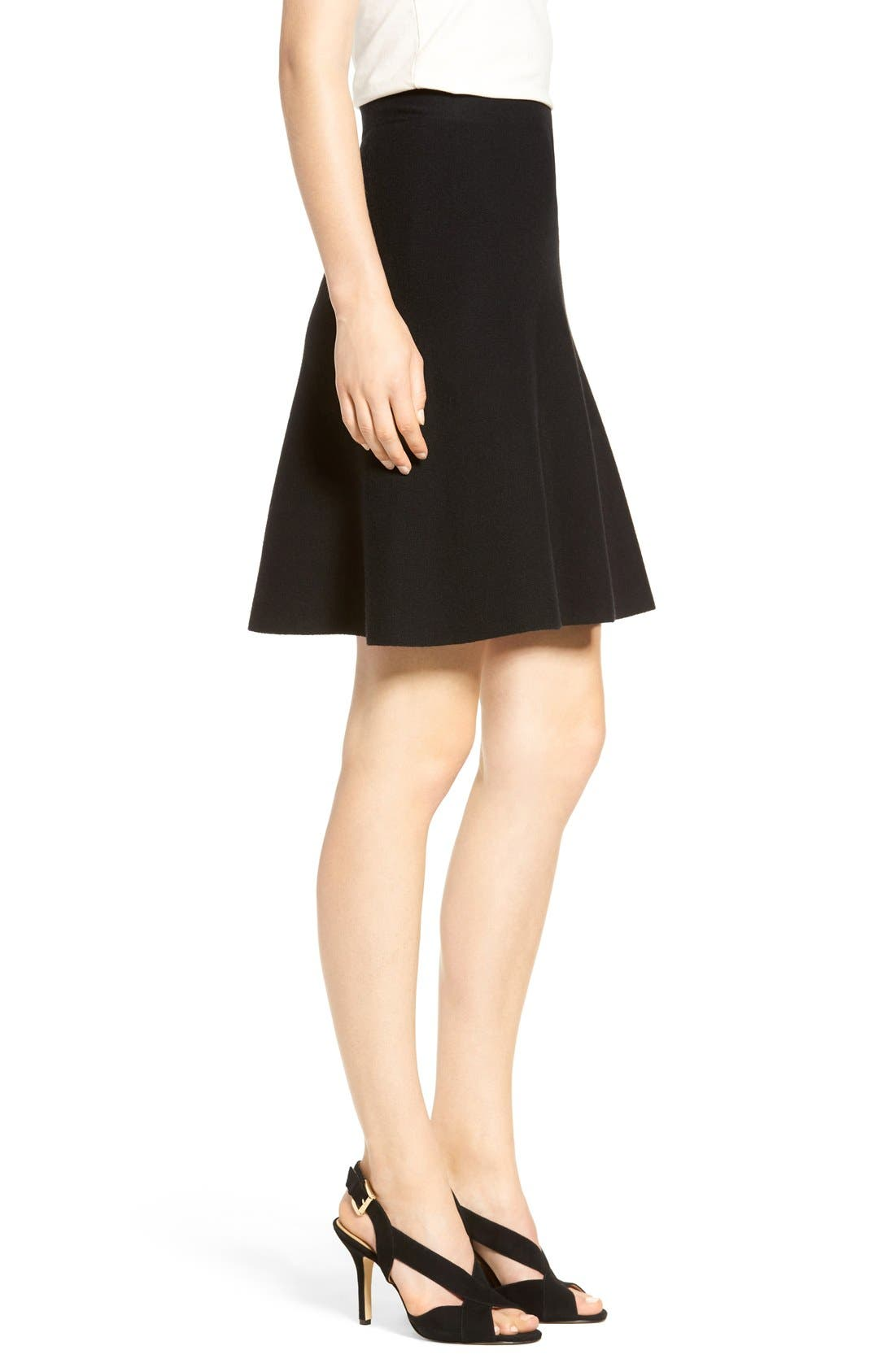 Alternate Image 4  - Halogen® Knit Skater Skirt (Regular & Petite)