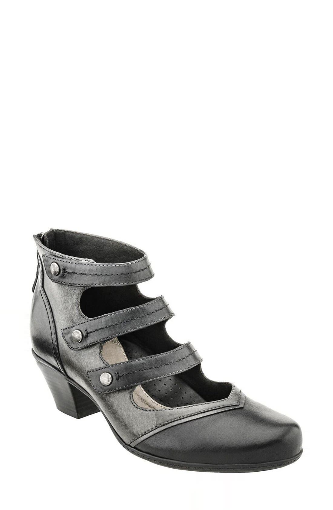 Earth® 'Serano' Triple Mary Jane Strap Bootie (Women)