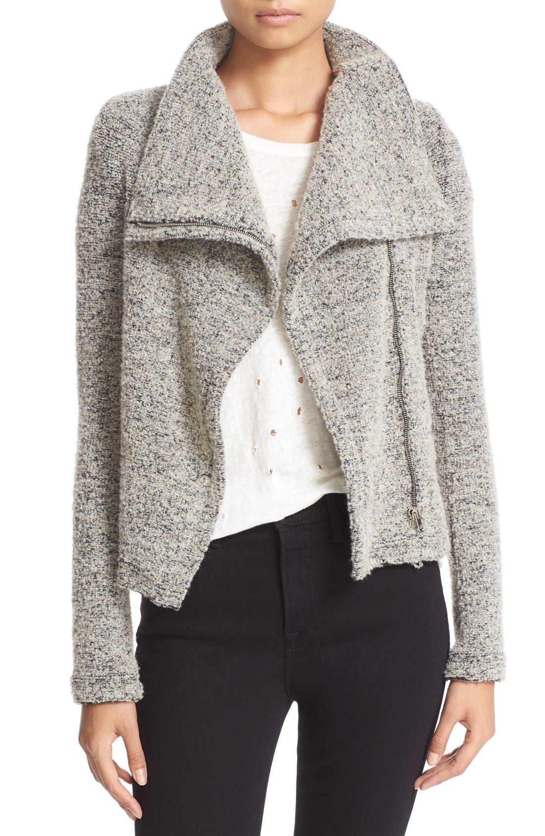 Alternate Image 1 Selected - IRO Drape Front Bouclé Knit Jacket