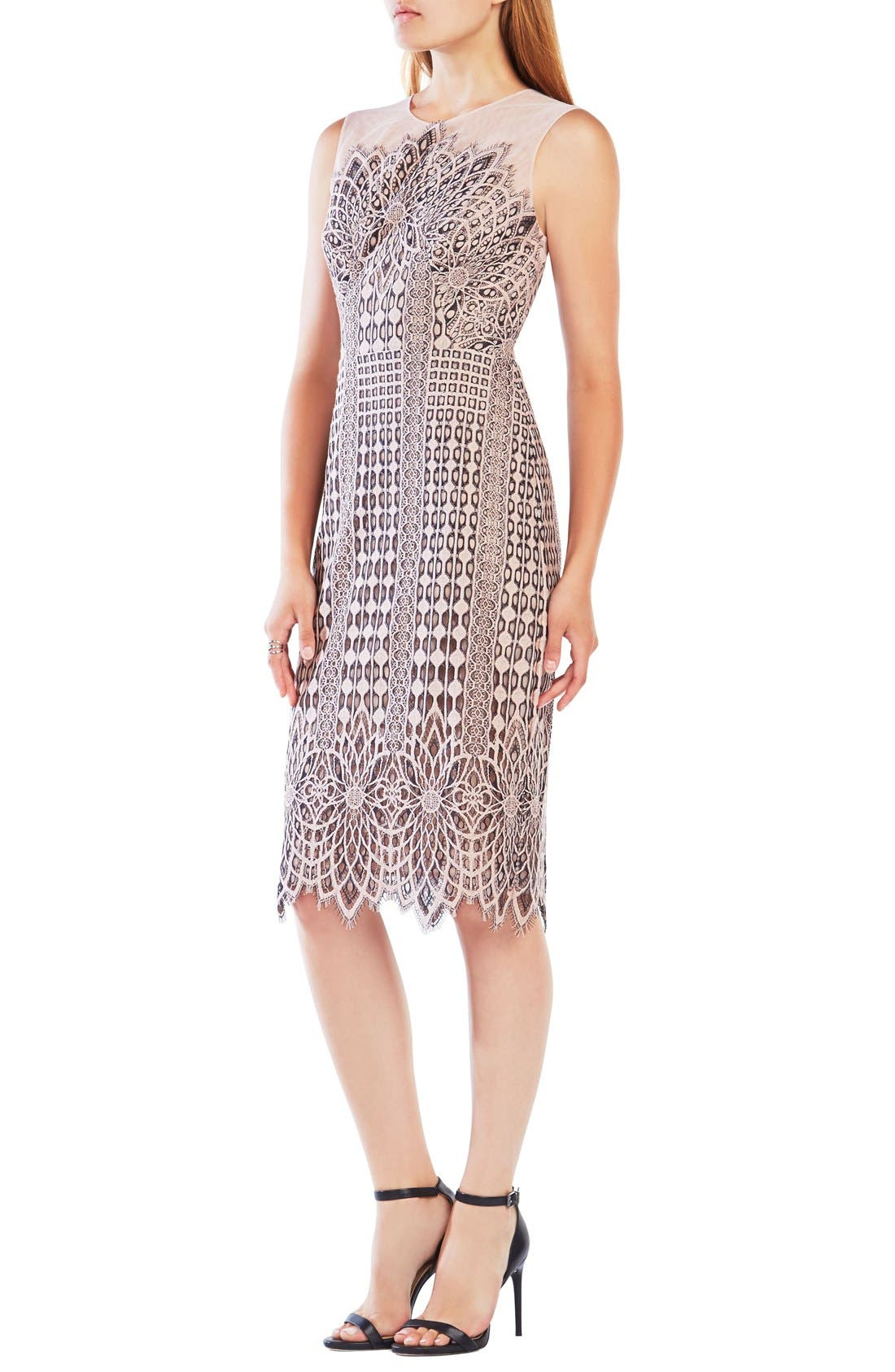 Main Image - BCBGMAXAZRIA 'Belila' Lace Midi Dress
