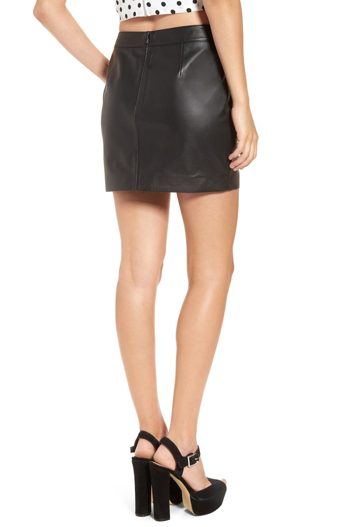 Alternate Image 2  - Leith Leather Miniskirt
