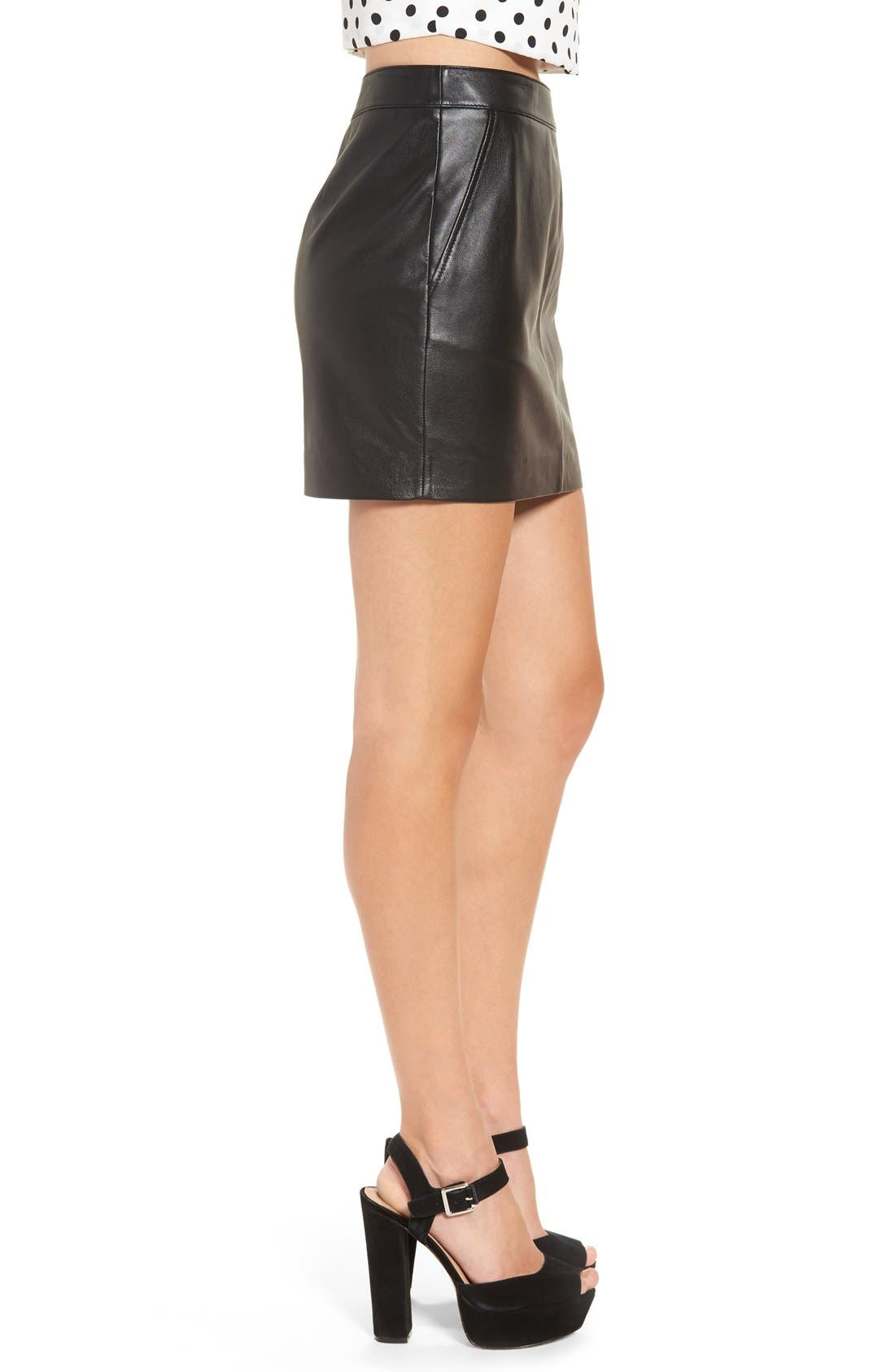 Alternate Image 3  - Leith Leather Miniskirt