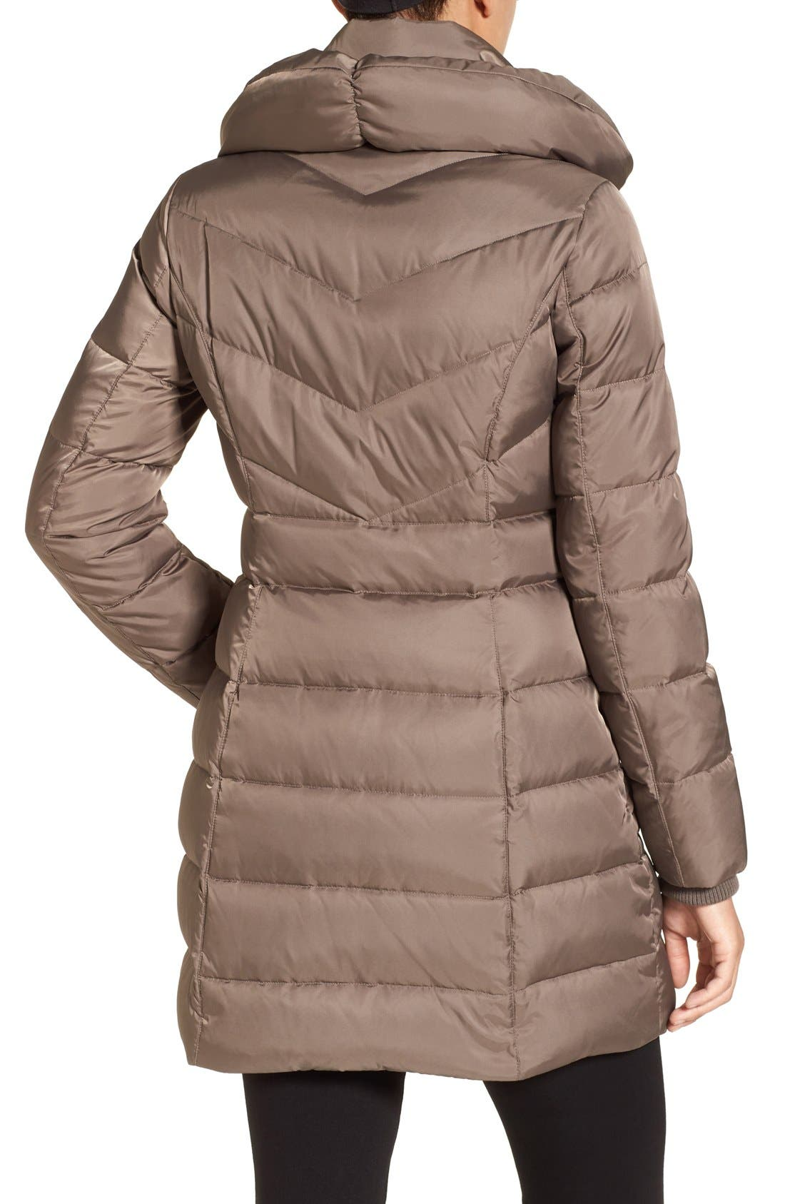 Alternate Image 2  - Kenneth Cole New York Hooded Down Coat