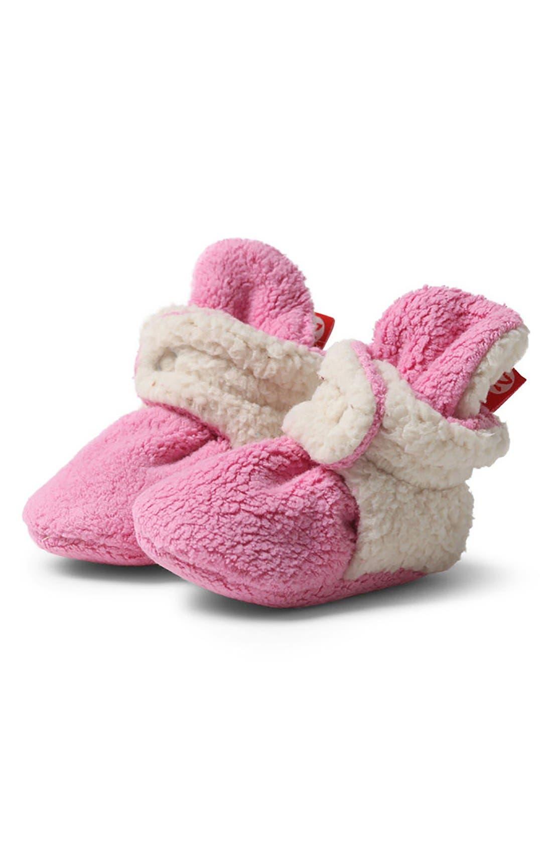 Alternate Image 1 Selected - Zutano 'Cozie' Fleece Booties (Baby)