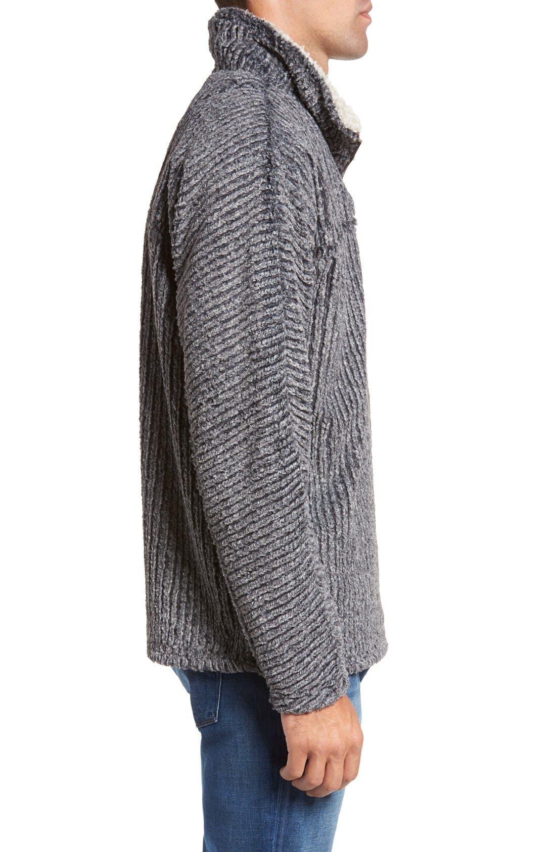 Alternate Image 3  - True Grit Frosty Cord Pile Quarter Zip Pullover