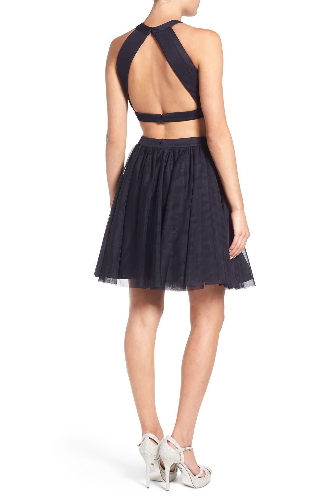 Alternate Image 2  - Blondie Nites Embellished Two-Piece Skater Dress