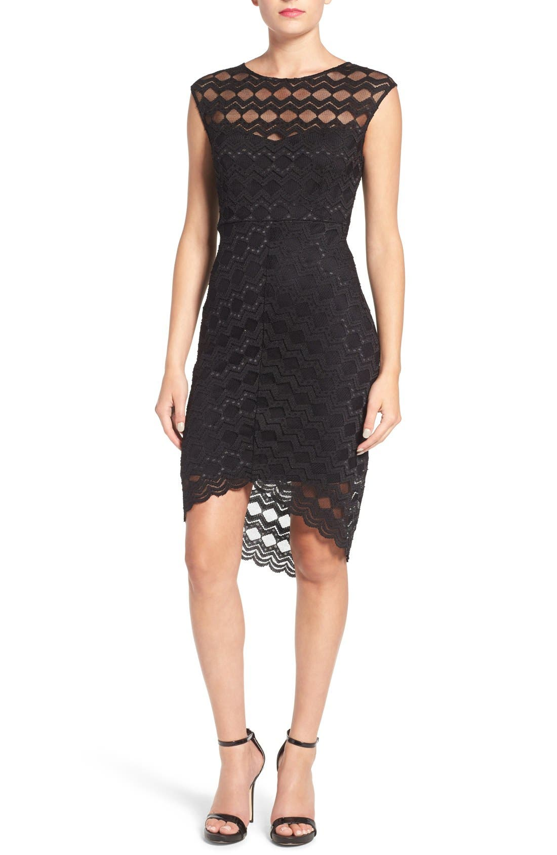 Main Image - Jump Apparel Diamond Lace Body-Con Dress
