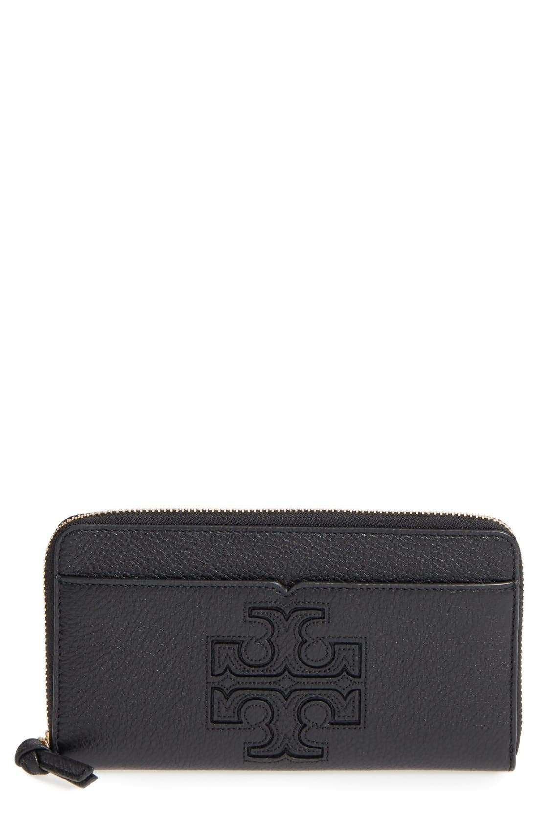 Alternate Image 1 Selected - Tory Burch 'Harper' Leather Zip Continental Wallet