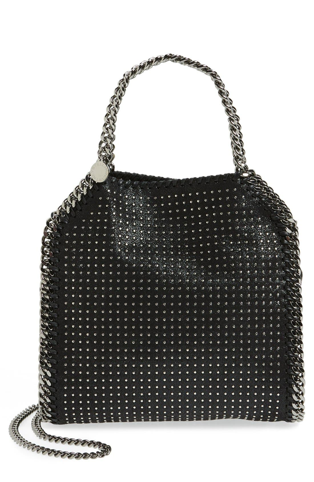 Alternate Image 1 Selected - Stella McCartney 'Mini Falabella' Studded Faux Leather Tote