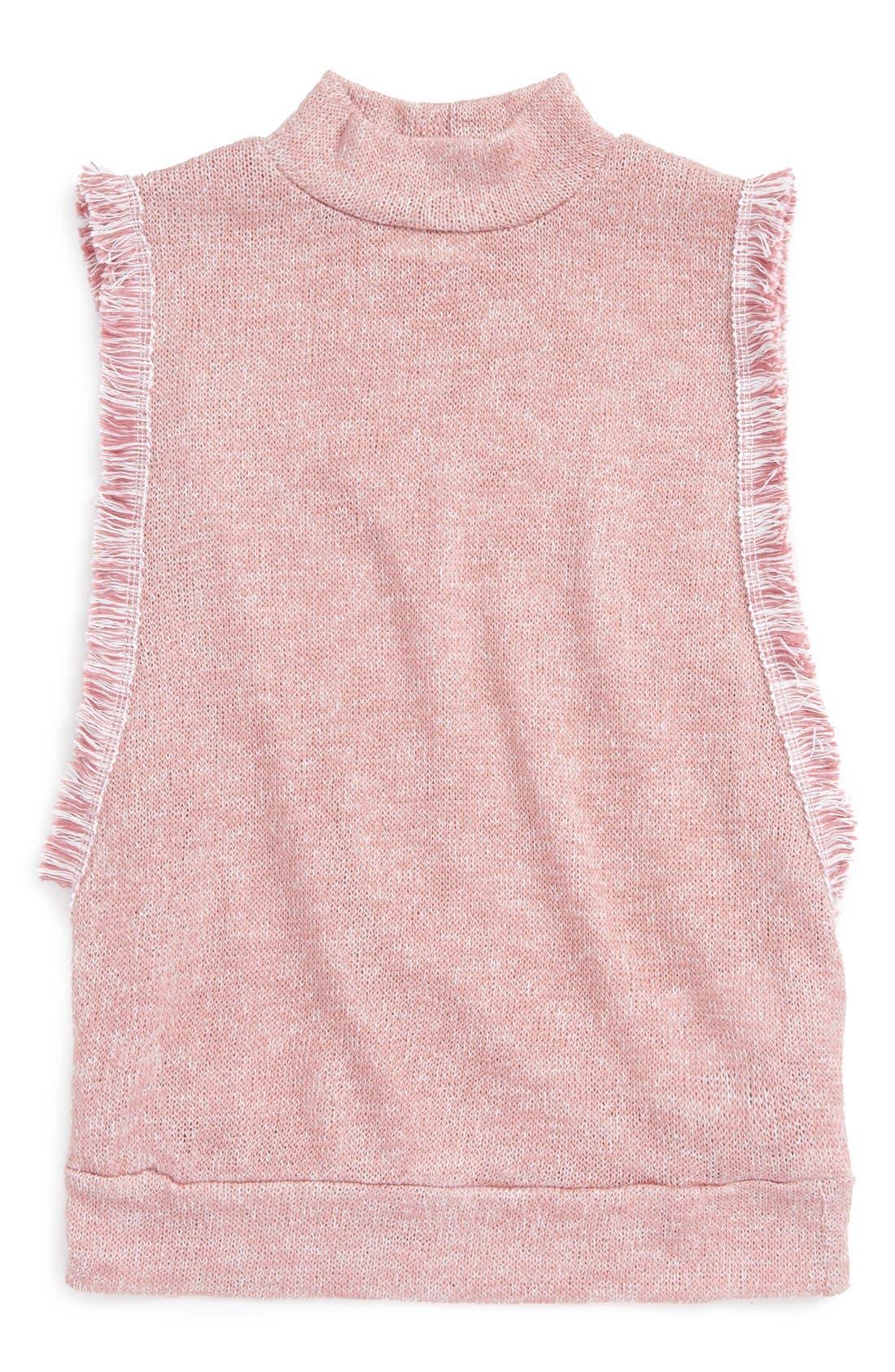 Alternate Image 1 Selected - h.i.p. Mock Neck Knit Top (Big Girls)