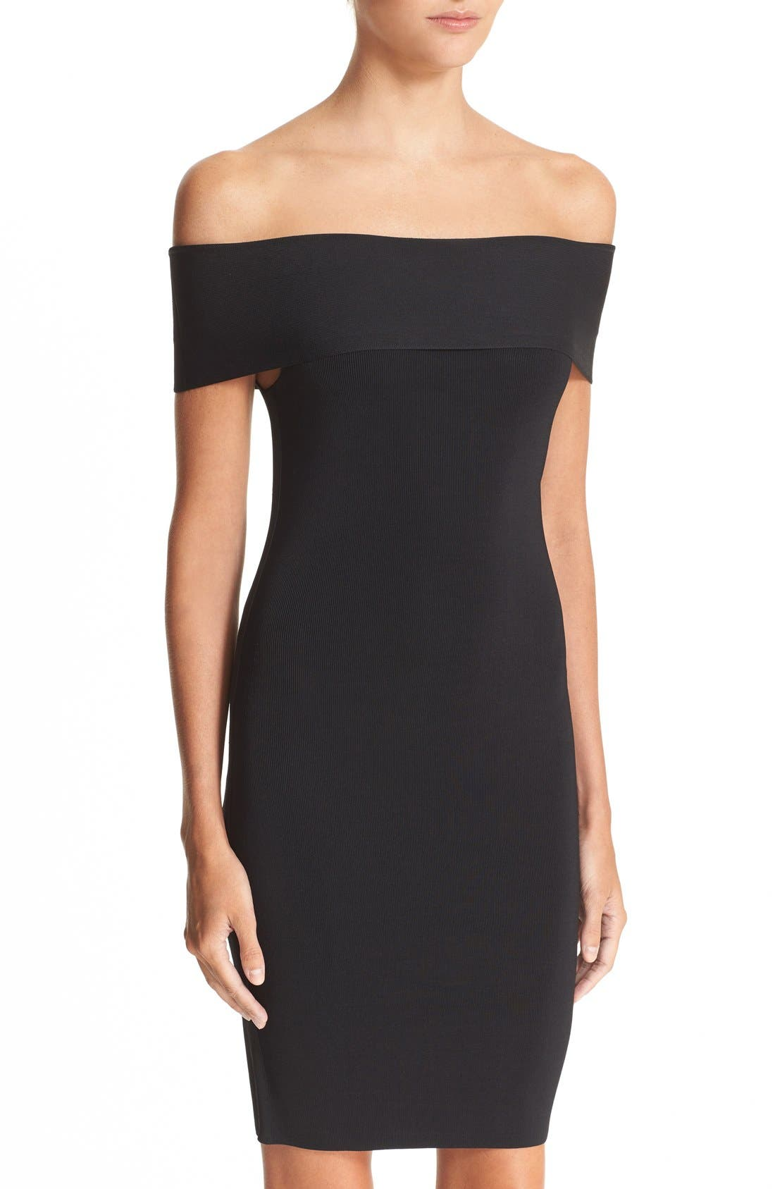 Alternate Image 4  - T by Alexander Wang Off the Shoulder Dress
