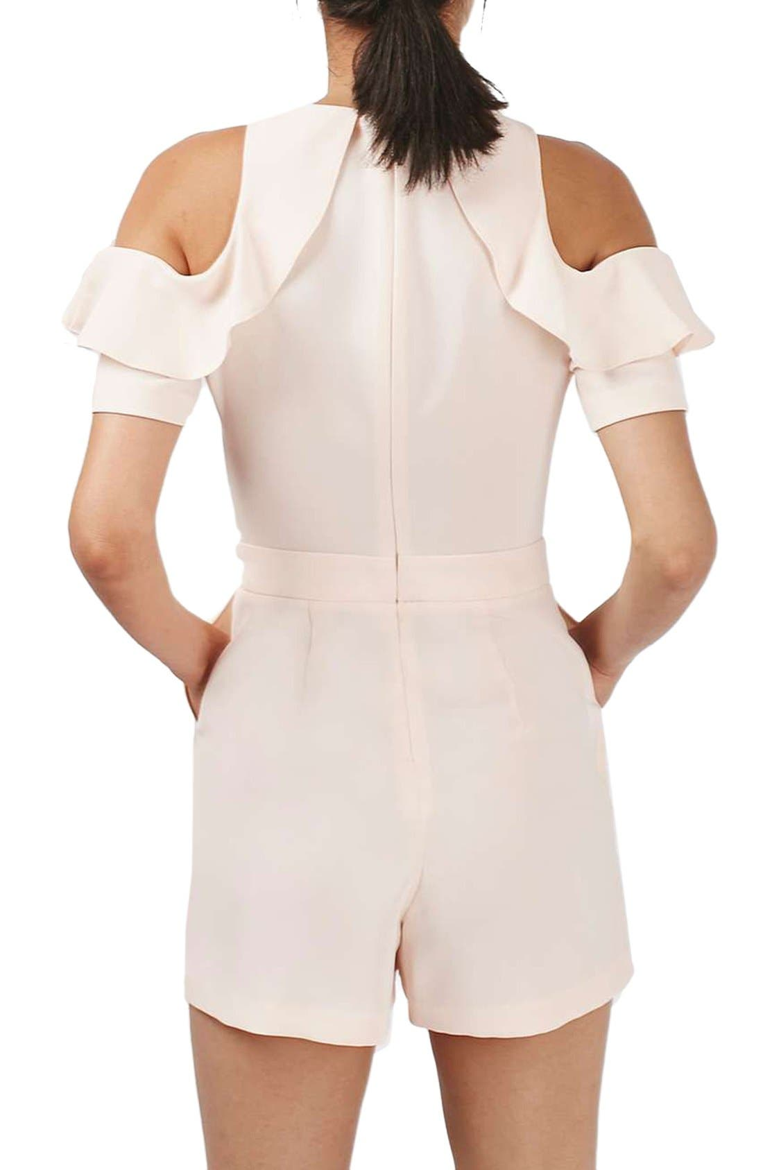 Alternate Image 3  - Topshop Ruffle Cold Shoulder Romper