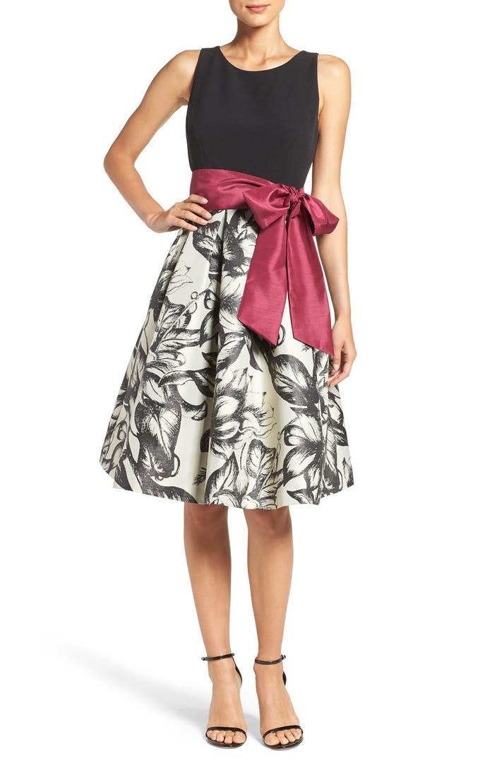 Eliza J Print Fit Amp Flare Dress Nordstrom