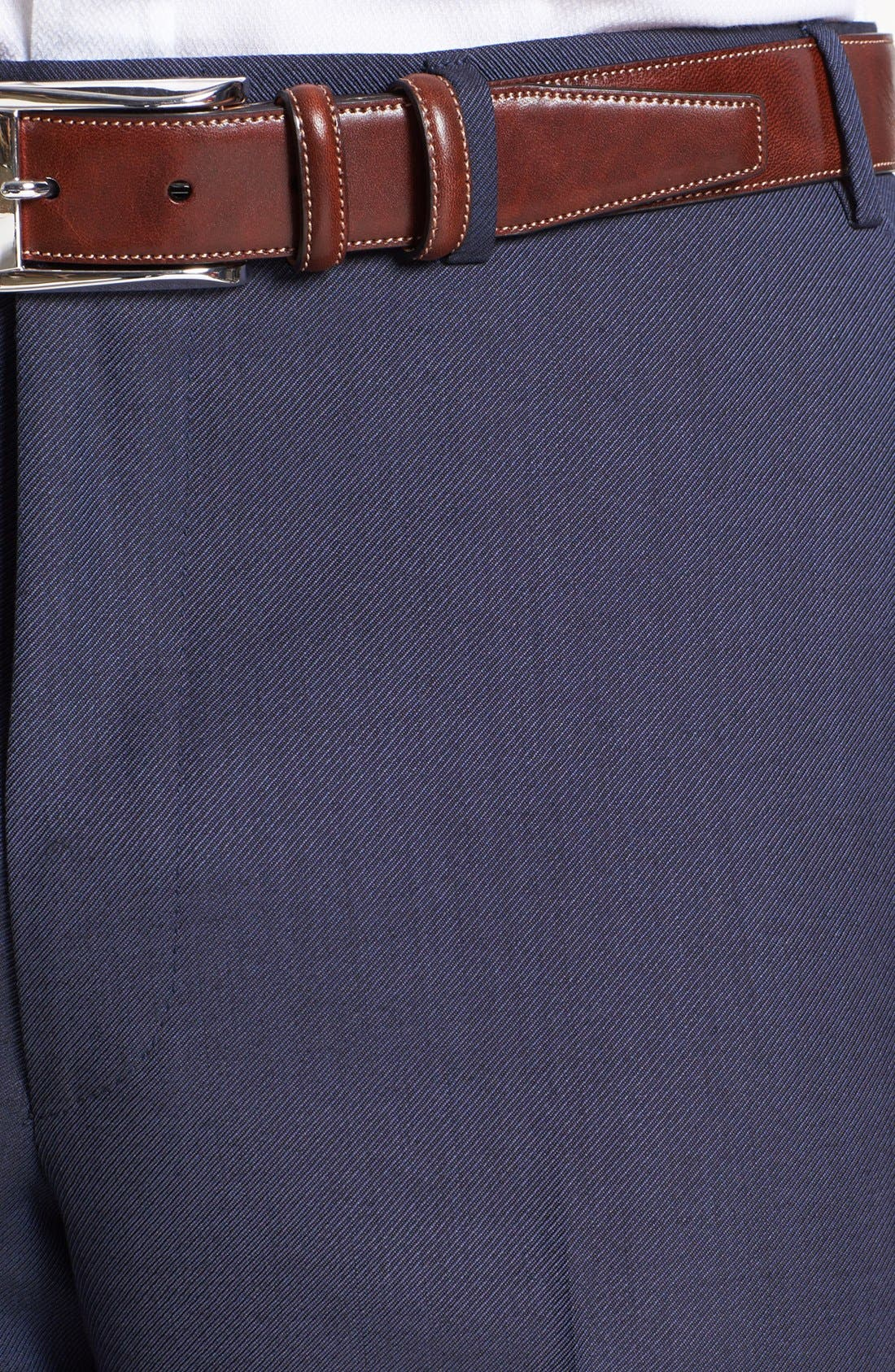 Alternate Image 3  - Canali Flat Front Wool Trousers
