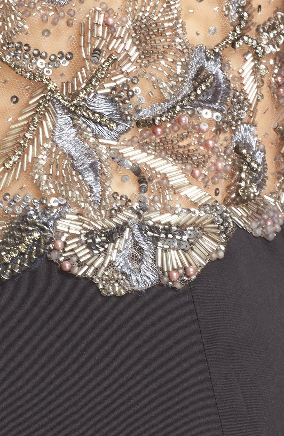 Alternate Image 3  - Marchesa Embellished Tulle Bodice Sheath Dress (Nordstrom Exclusive)