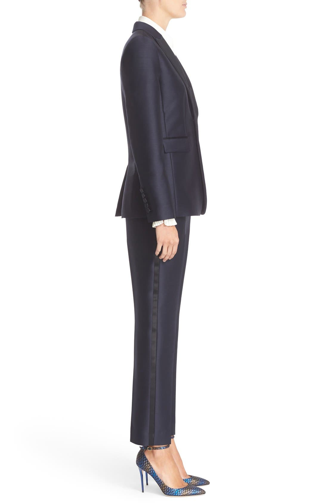 Alternate Image 5  - Nordstrom Signature and Caroline Issa Silk Trim Tuxedo Jacket