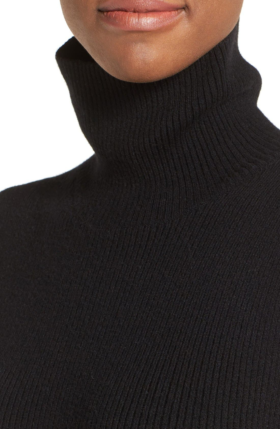 Alternate Image 4  - Nordstrom Collection Wool Blend Rib Sweater Dress