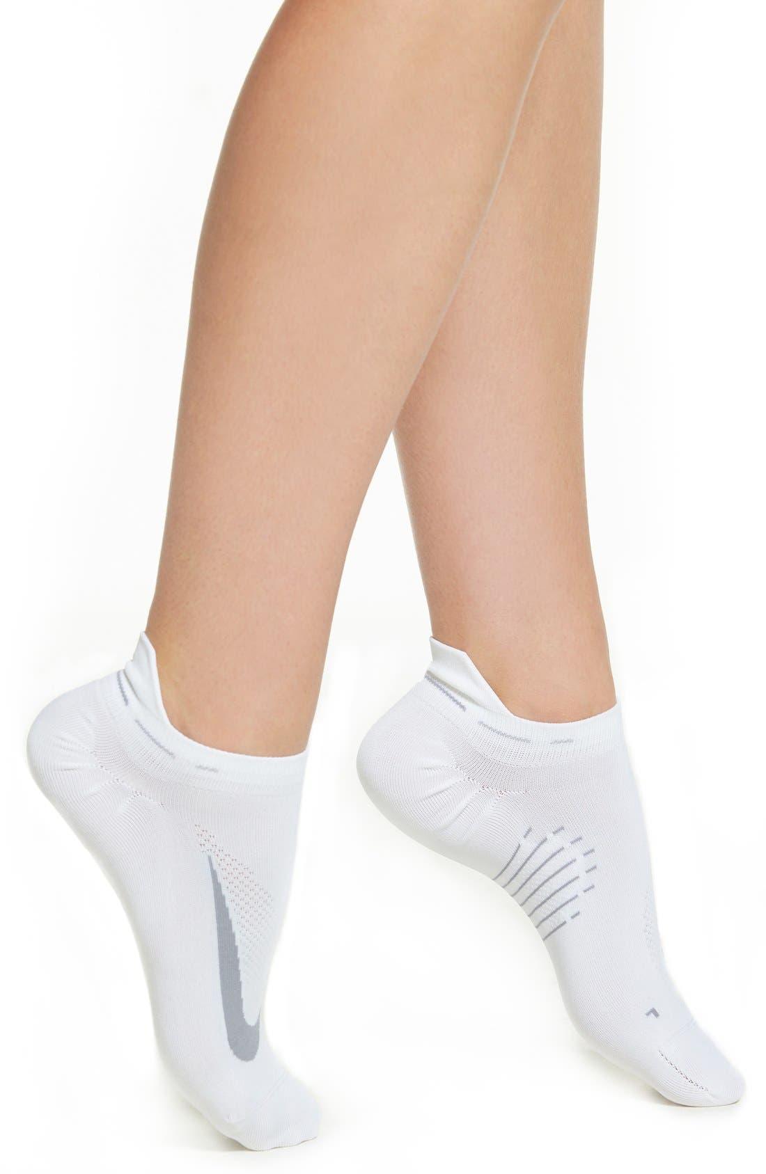 Alternate Image 1 Selected - Nike 'Elite' No-Show Running Socks (Women)