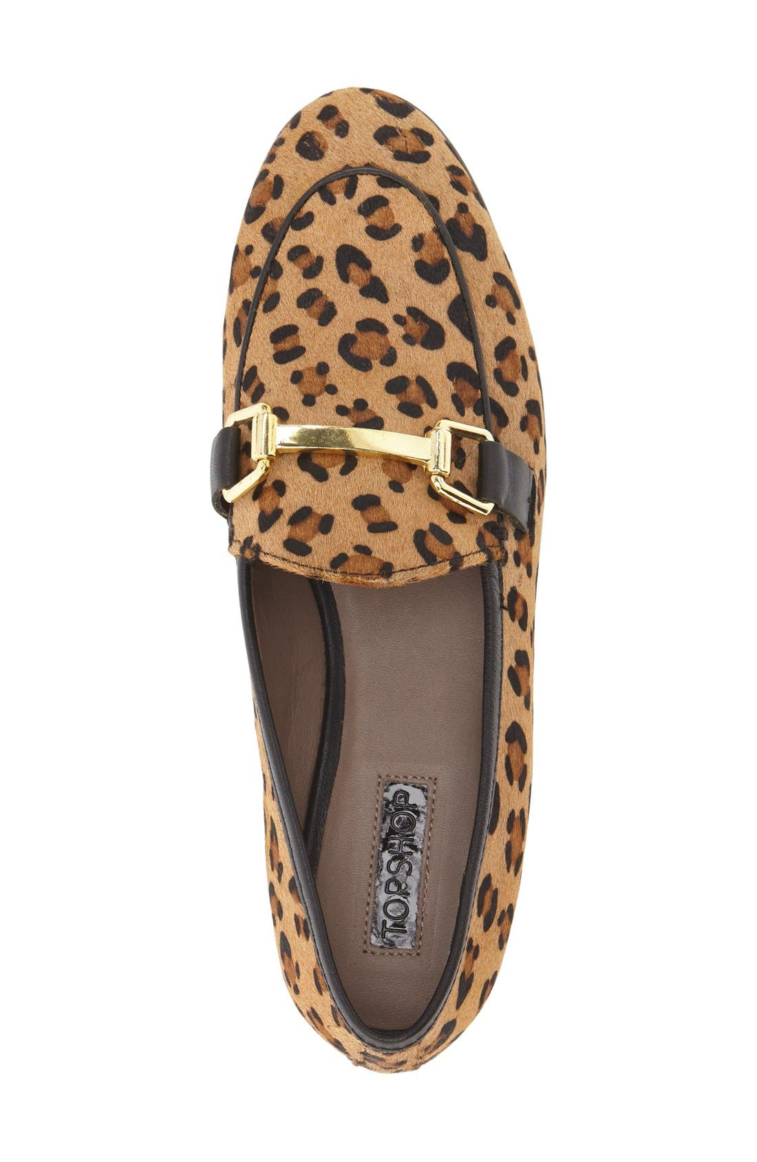 Alternate Image 3  - Topshop 'Kendall' Genuine Calf Hair Loafer (Women)