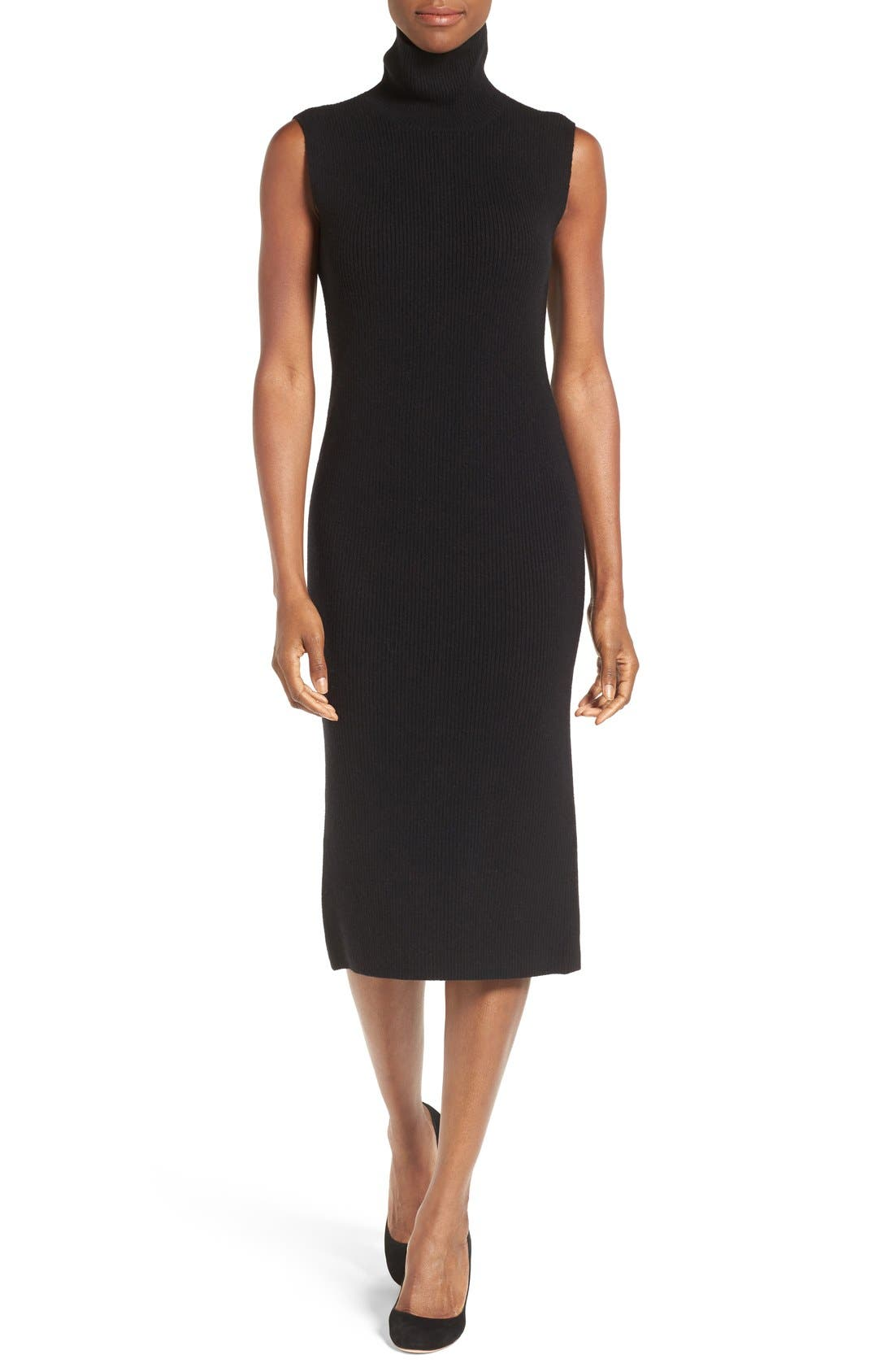 Main Image - Nordstrom Collection Wool Blend Rib Sweater Dress