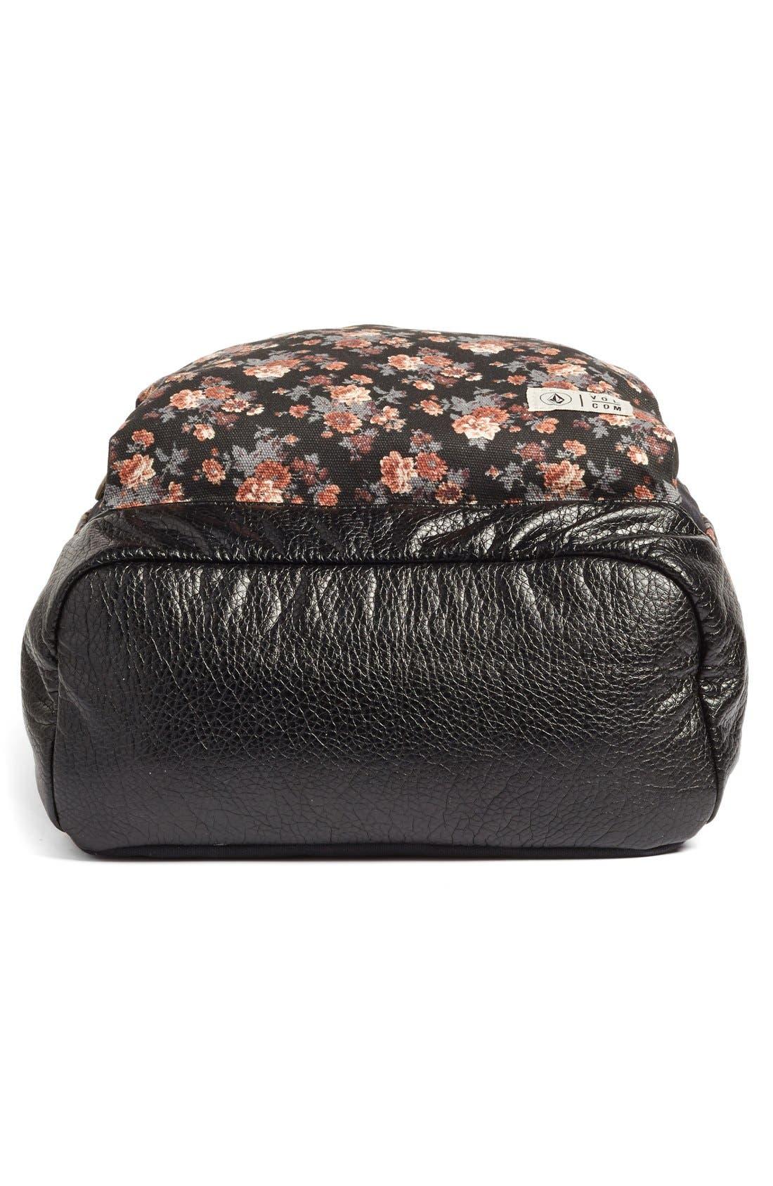 Alternate Image 4  - Volcom 'Leaf Me Alone' Floral Print Backpack