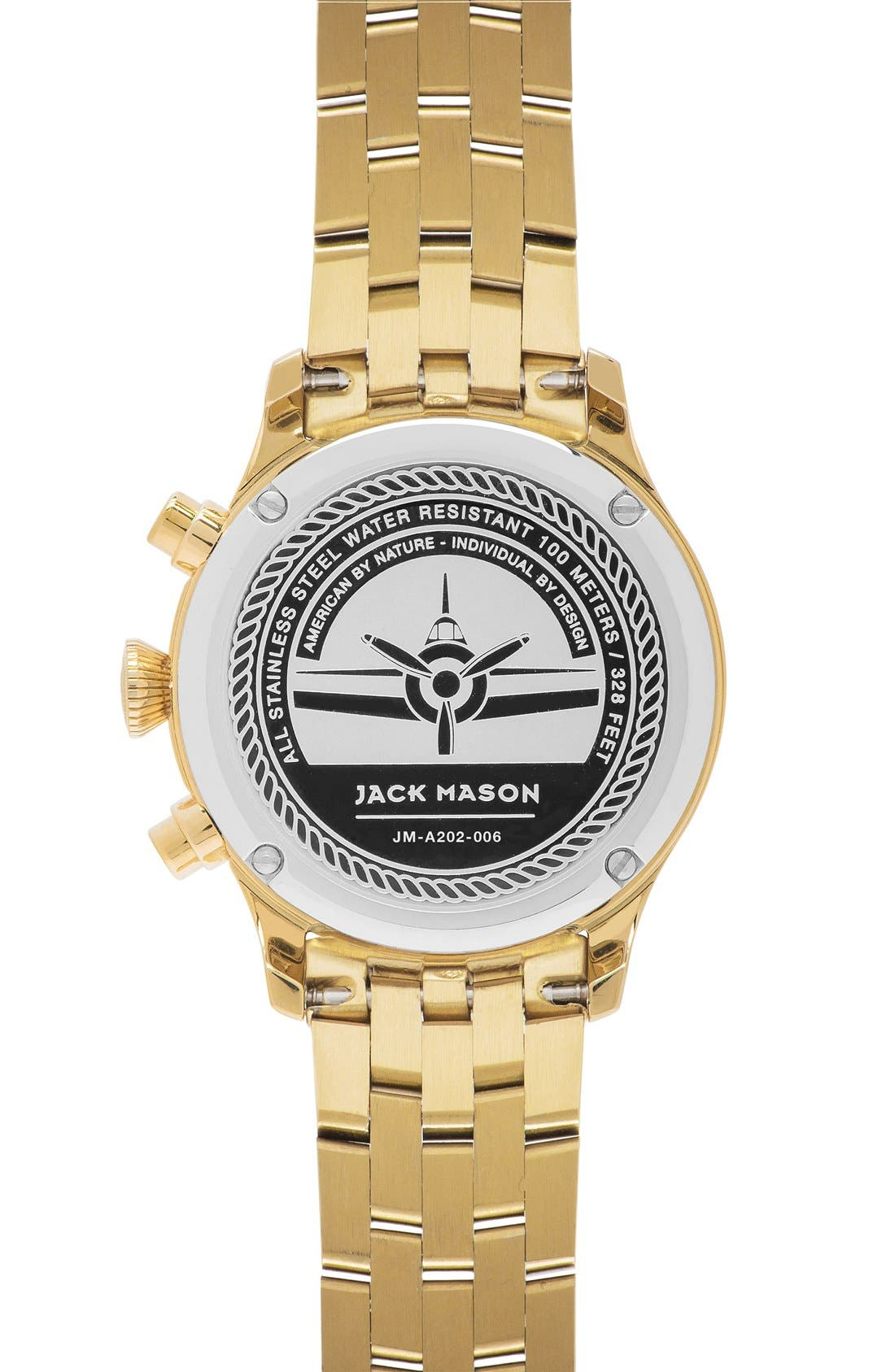 Alternate Image 2  - Jack Mason Aviation Chronograph Bracelet Watch, 36mm