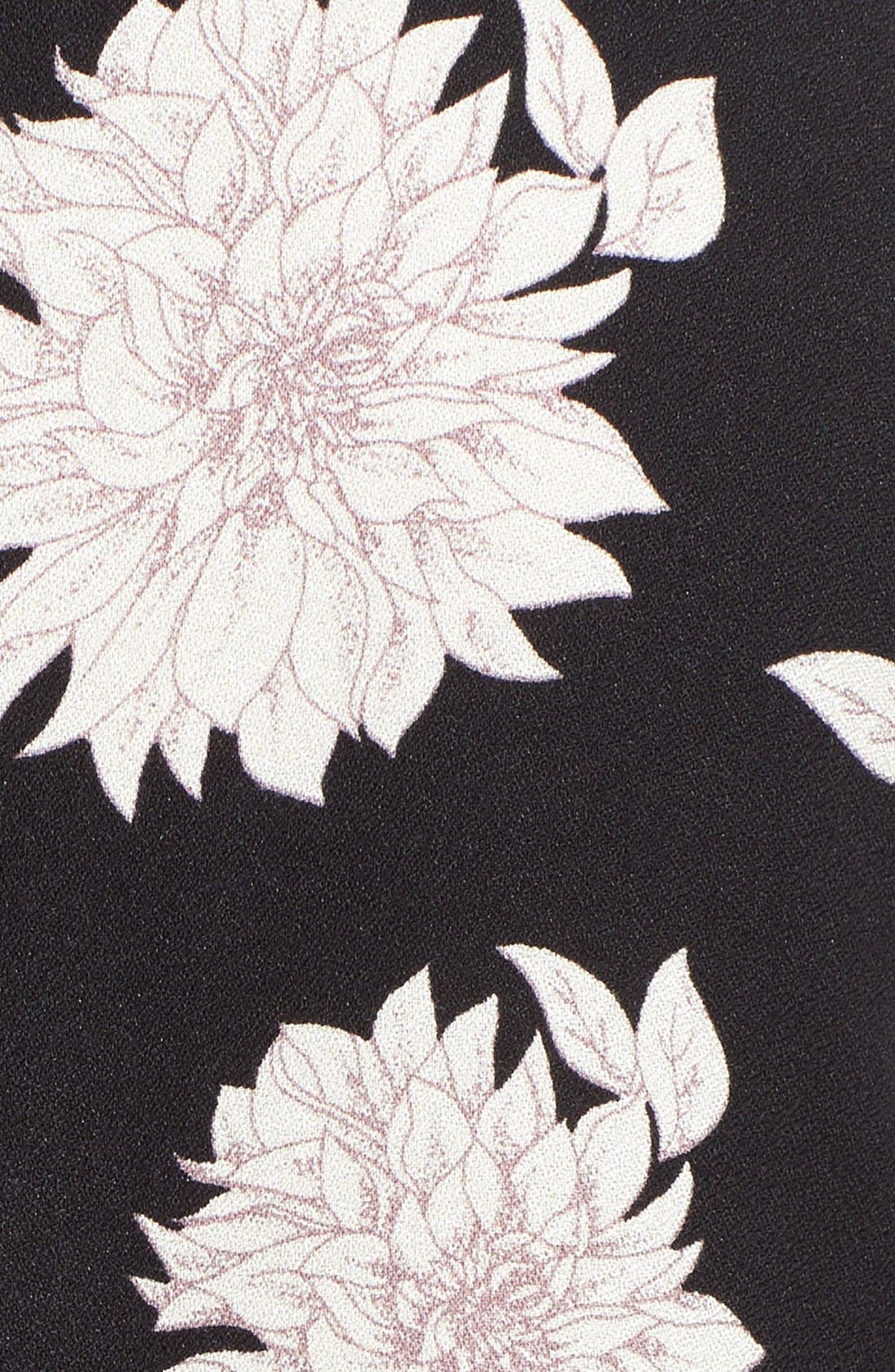 Alternate Image 5  - Sun & Shadow Floral Print Lace-Up Top