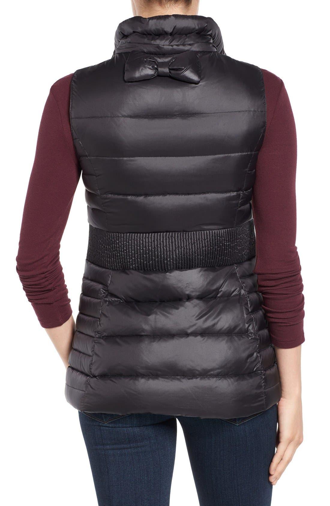 Alternate Image 2  - kate spade new york down vest with faux fur trim