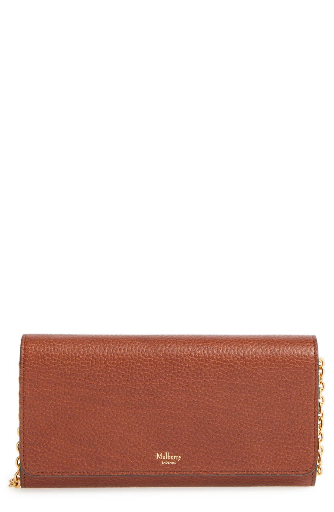 Main Image - Mulberry 'Continental - Classic' Convertible Leather Clutch