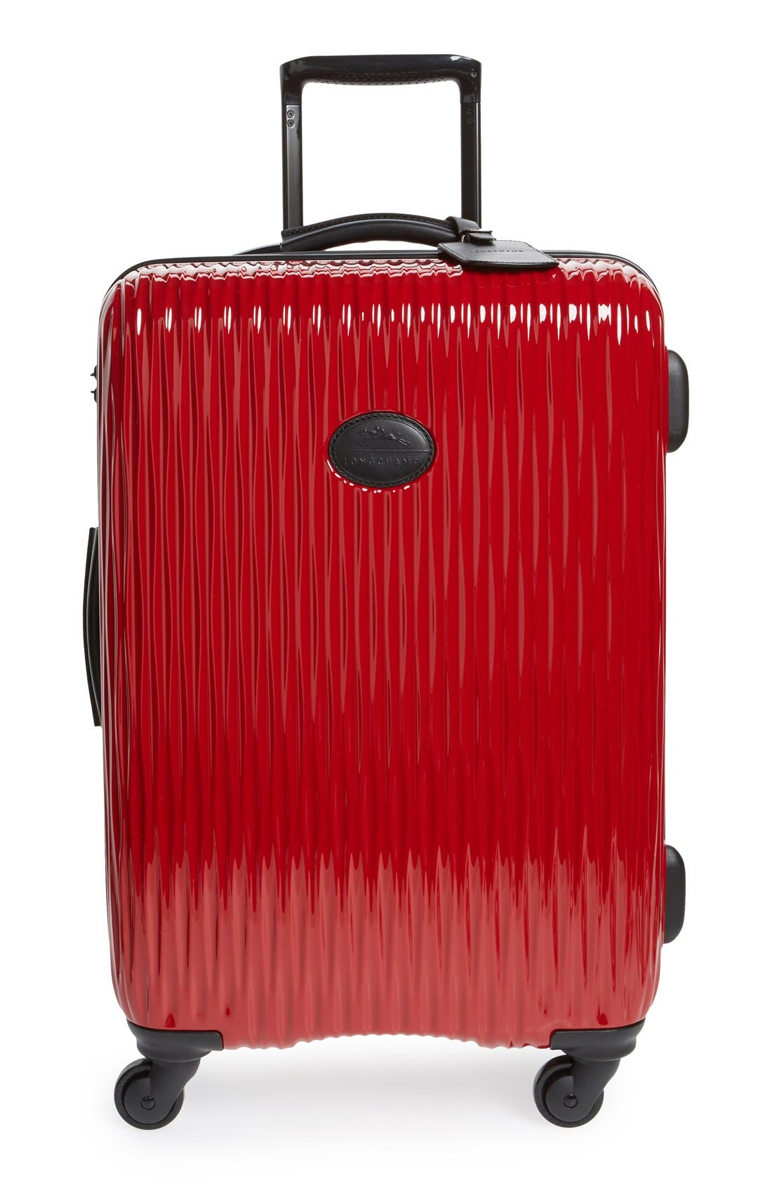 Longchamp 'Medium Fairval' Four-Wheel Hard Shell Suitcase (25 Inch)