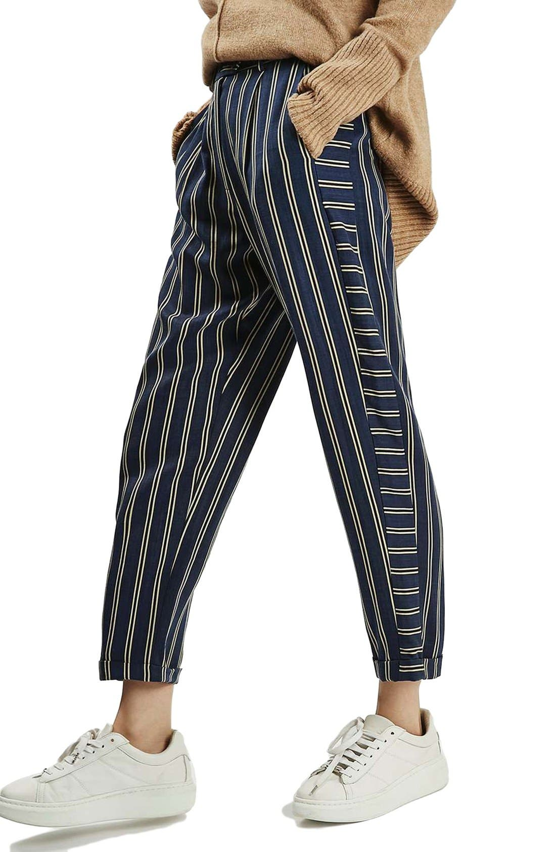 Alternate Image 4  - Topshop Stripe Peg Trousers