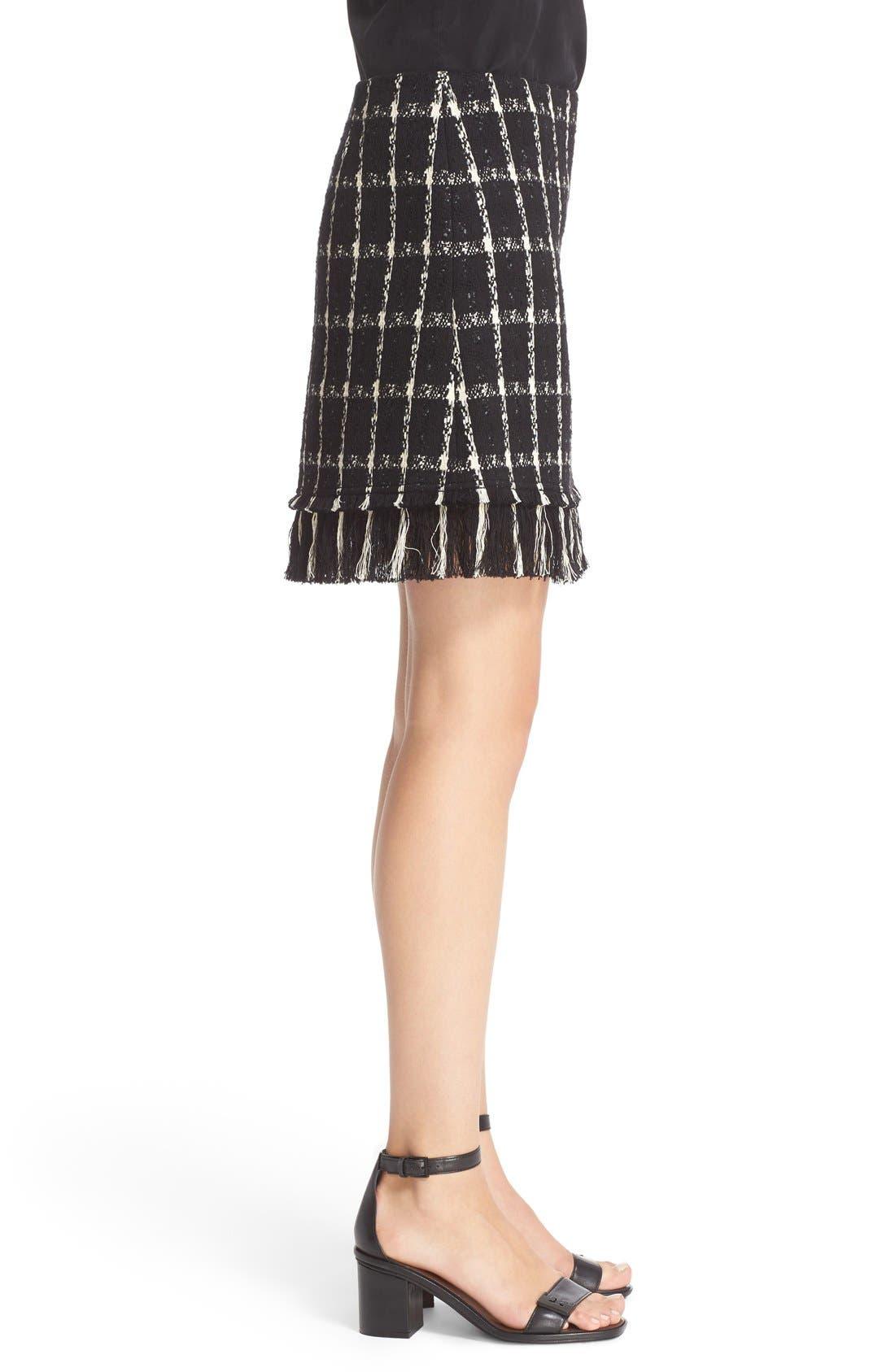 Alternate Image 3  - Tory Burch 'Marisol' Fringe Hem Plaid Tweed Miniskirt
